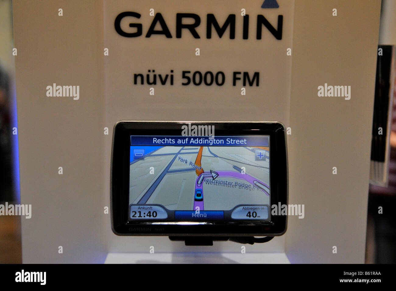 Garmin portable navigation system, International Radio Exhibition IFA, Berlin, Germany, Europe - Stock Image