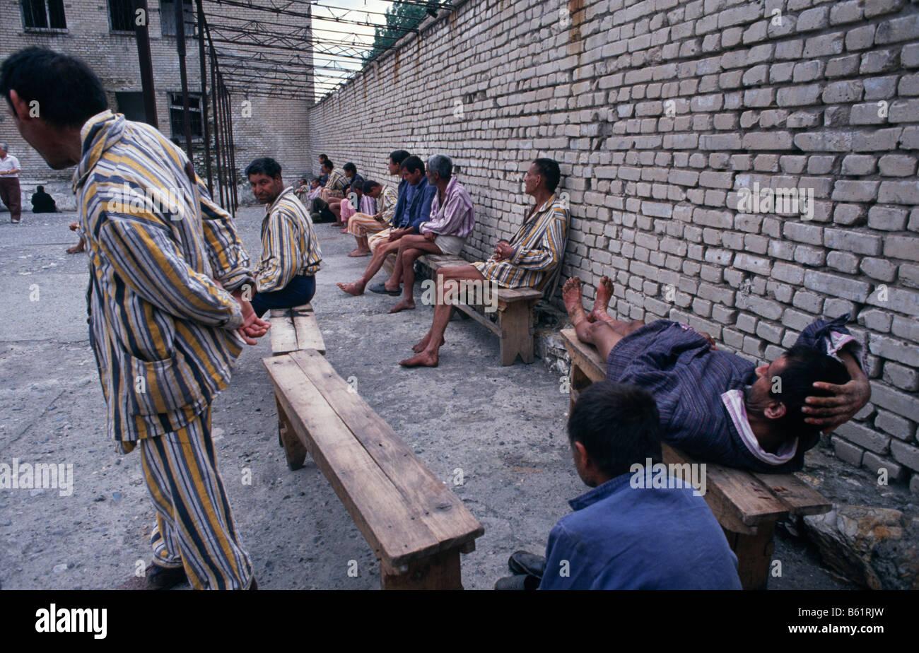 Mental hospital in Elbasan, Albania 1992 - Stock Image