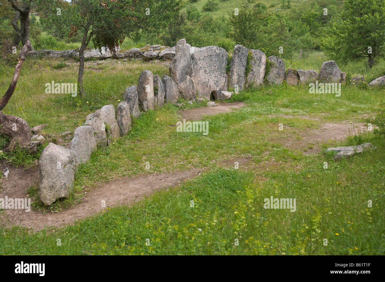 Pascaredda, Giants Tomb near Calangianus, Sardinia, Italy, Europe - Stock Image