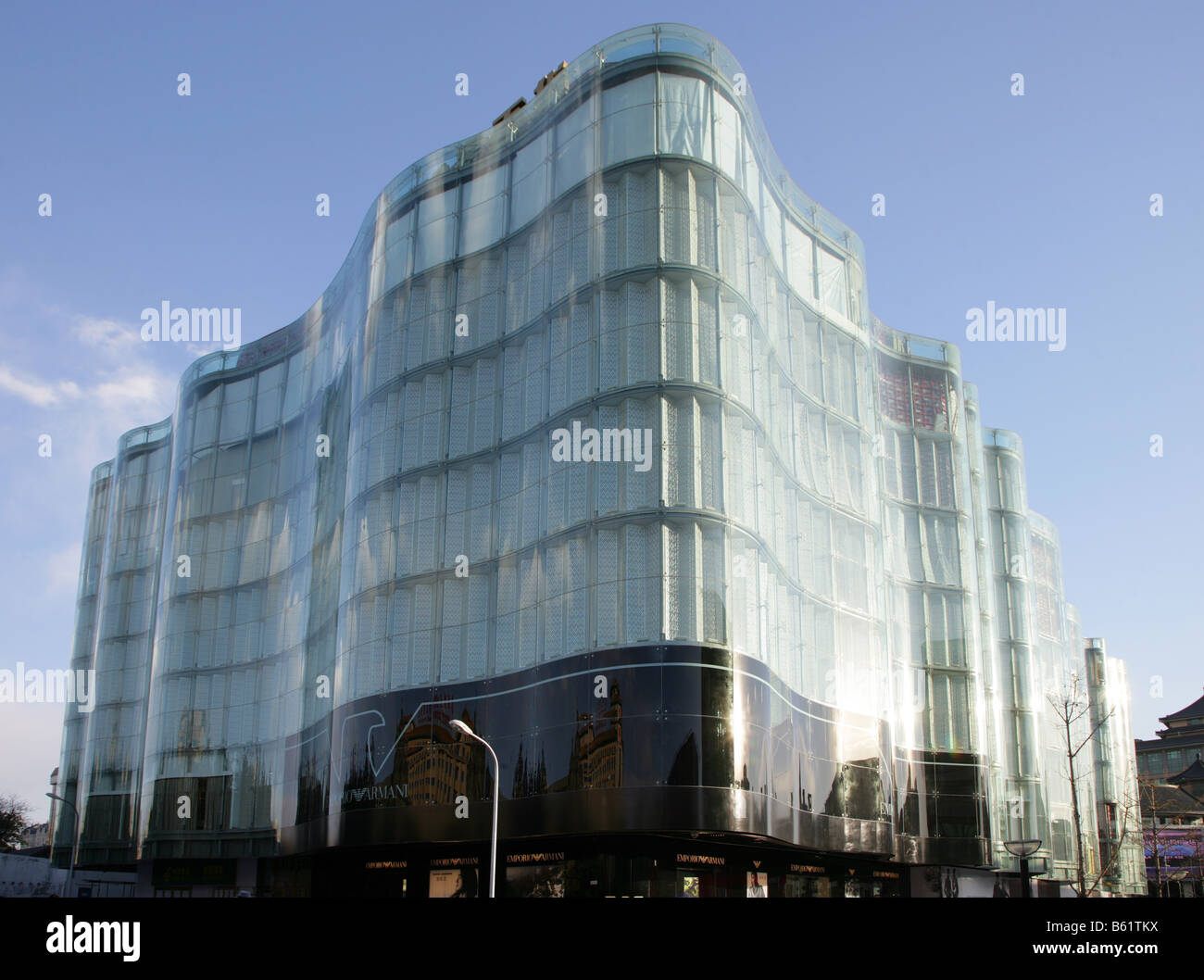 Emporio Armani in Intime Lotte South Korean shopping mall Beijing China - Stock Image