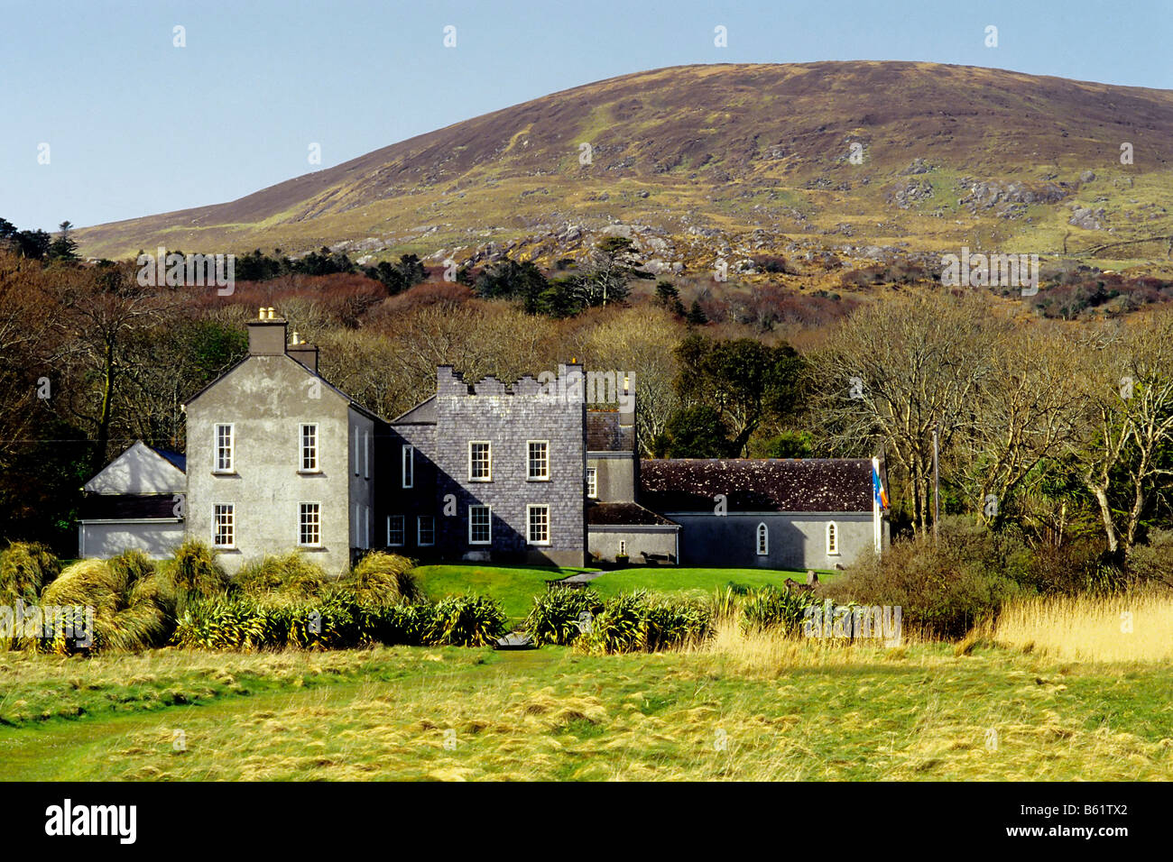 Derrynane House, Museum, summer house of Daniel O'Connor, County Kerry, Ireland, Europe - Stock Image