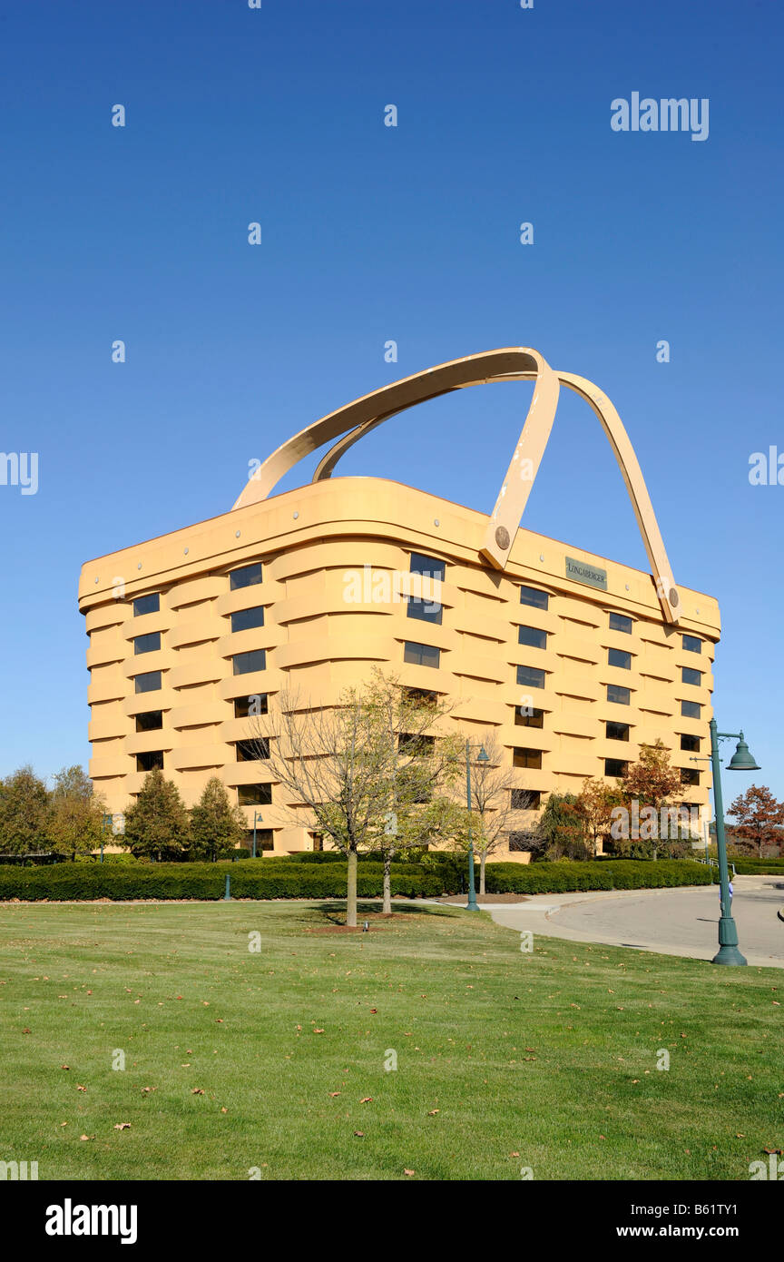 Longaberger S Home Office Zanesville Ohio U S Seven Story Building Basket    Stock Image