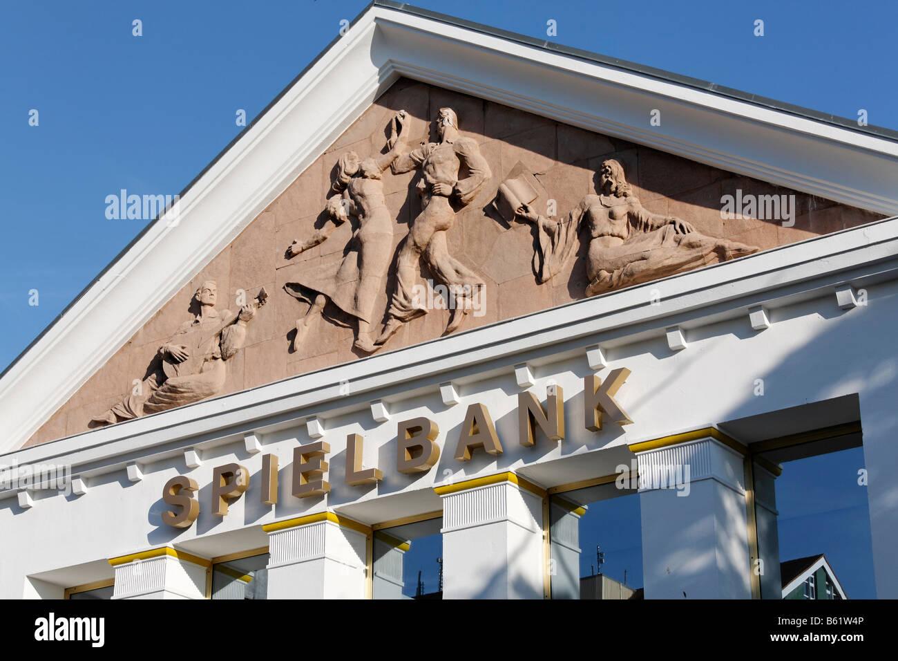Frieze on the Heringsdorf Casino building, Usedom Island, Baltic Sea, Mecklenburg-Western Pomerania, Germany, Europe Stock Photo