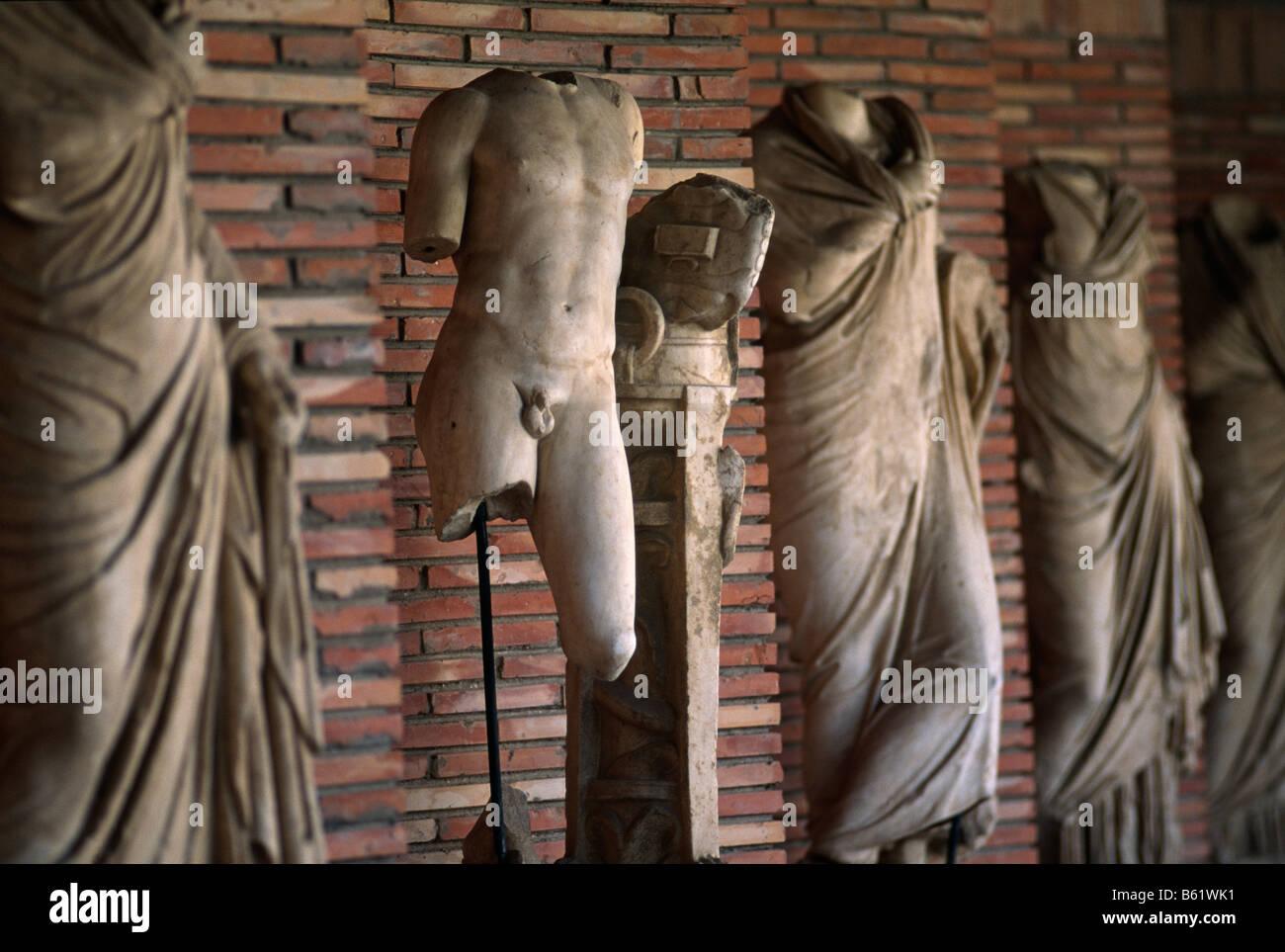 Roman statues antiquities at Apollonia Albania 1994 - Stock Image