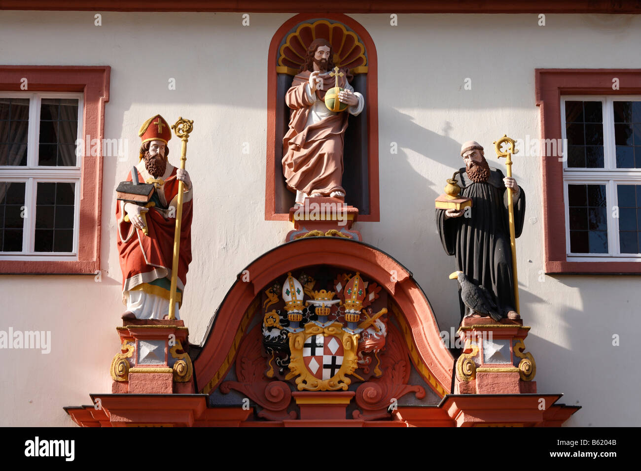 Episcopal seminary, convent building, Fulda, Rhoen, Hesse, Germany, Europe - Stock Image