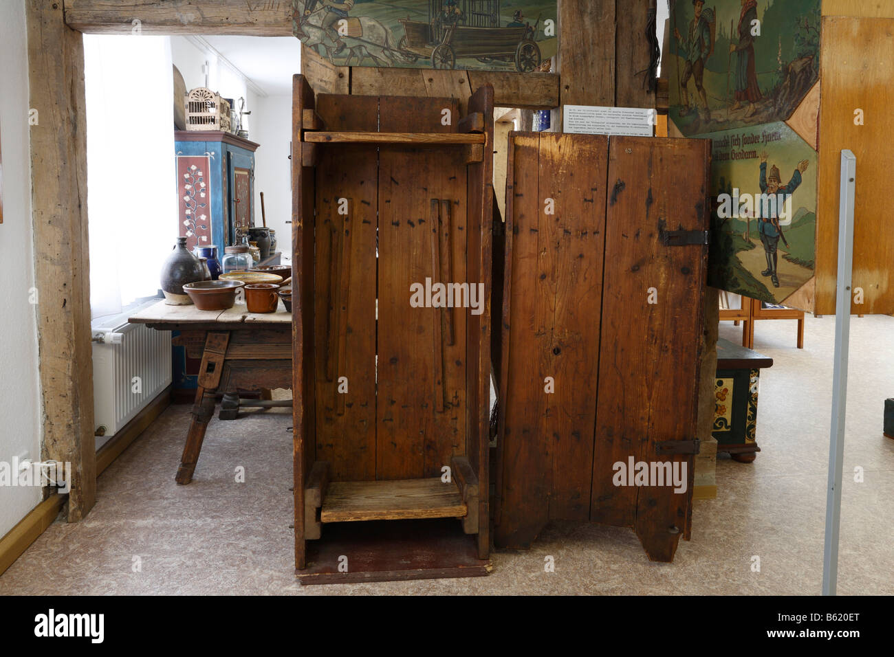 Prison of Rhoenpaulus in the Dermbach Museum, Rhoen, Thuringia, Germany, Europe - Stock Image