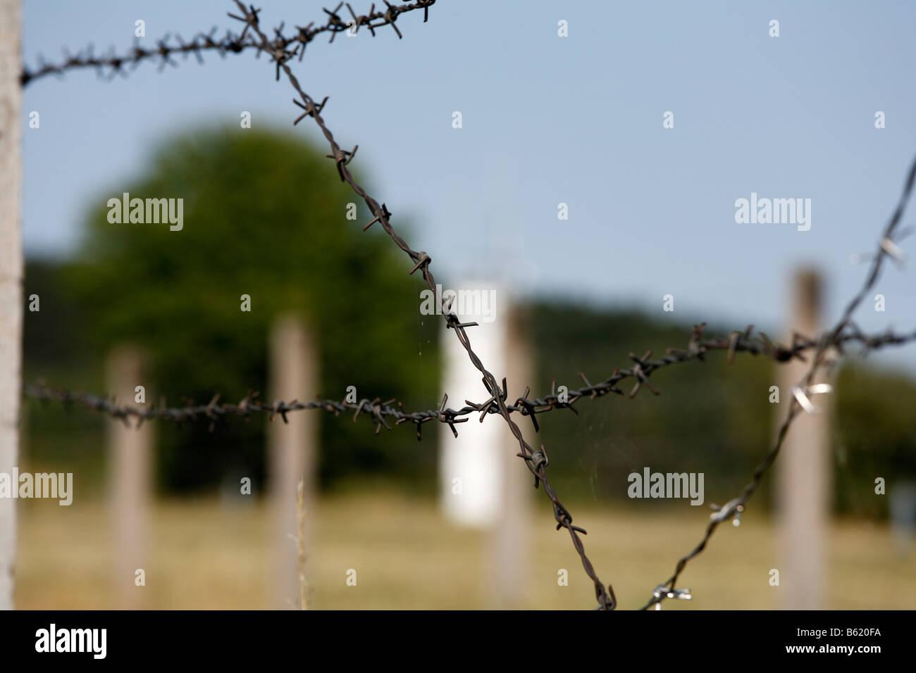 Former DDR/GDR border, Point Alpha Border Museum, Rasdorf/Geisa, Rhoen, Thuringia, Germany, Europe - Stock Image