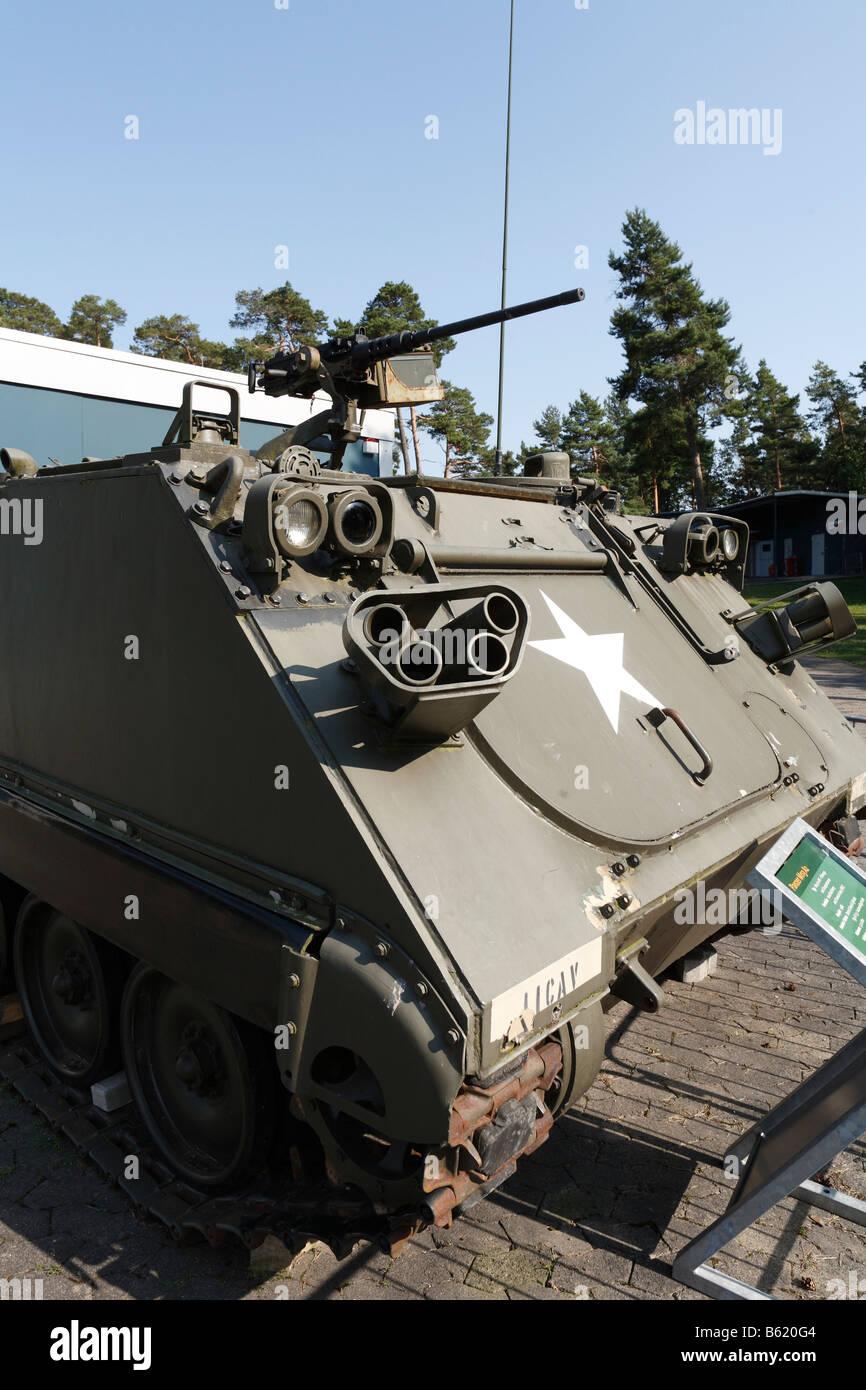 M113 A2 tank, Point Alpha Border Museum, Rasdorf/Geisa, Rhoen, Hesse/Thuringia, Germany, Europe Stock Photo