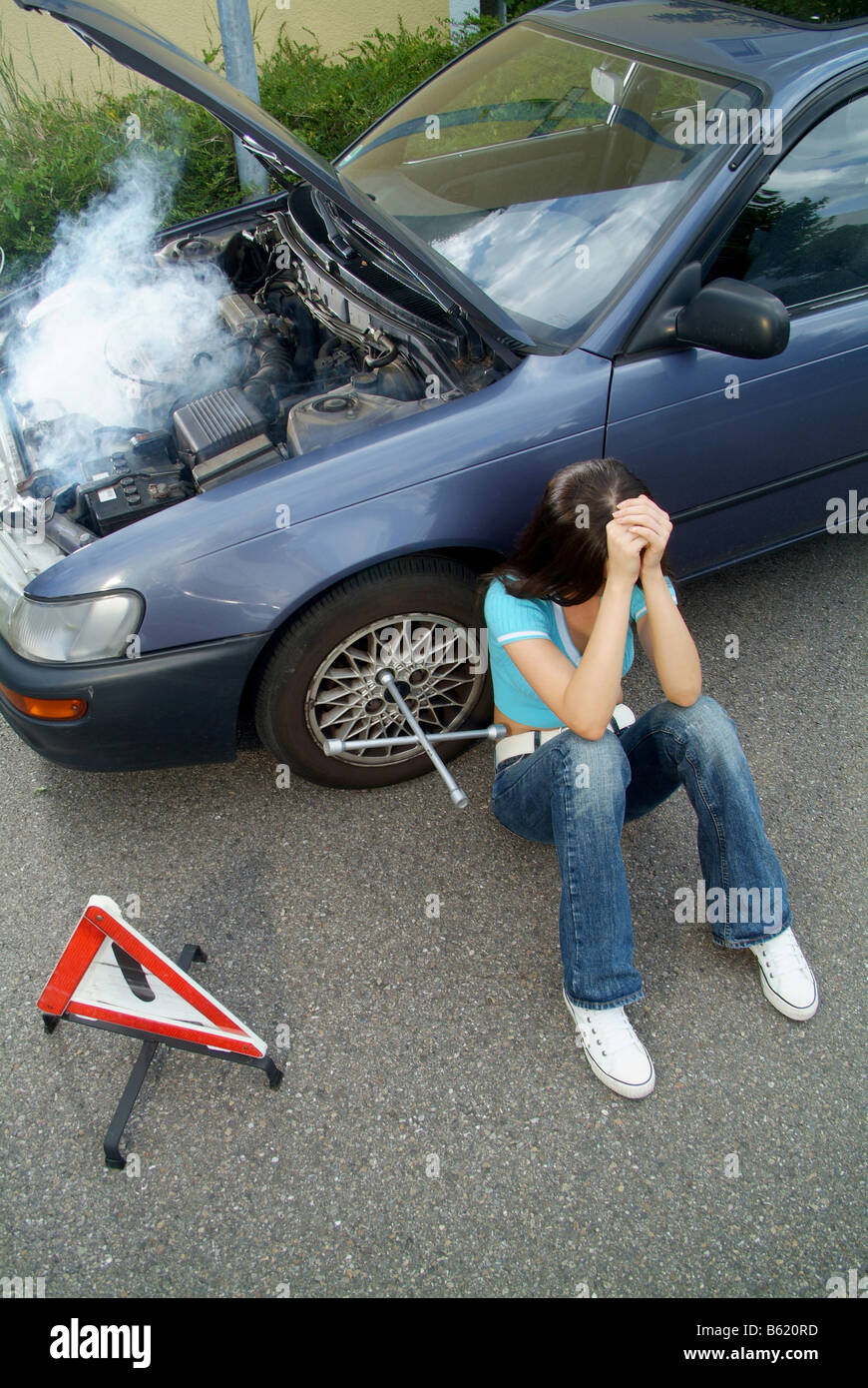 Broken Down Abandoned Stock Photos Broken Down Abandoned: Broken Down Car Smoke Stock Photos & Broken Down Car Smoke