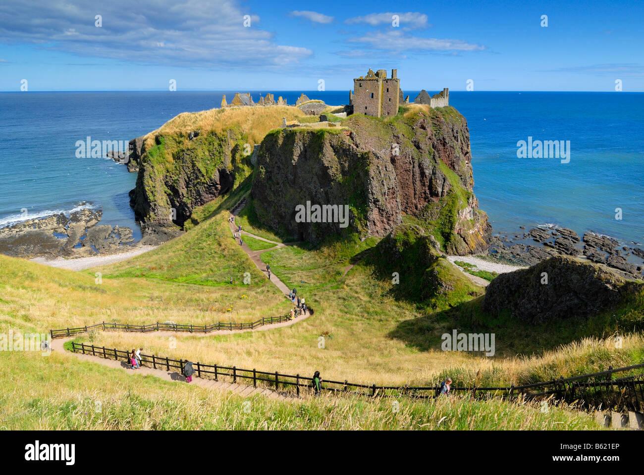 Dunnottar Castle, Scotland, Great Britain, Europe - Stock Image