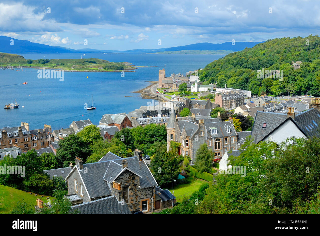 View of the town of Oban, Scotland, Great Britain, Europe - Stock Image