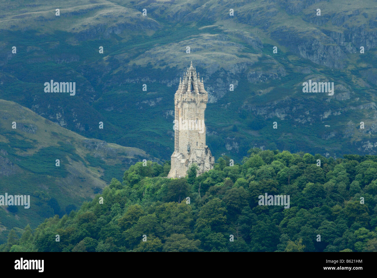 Wallace Monument near Stirling, Scotland, Great Britain, Europe - Stock Image