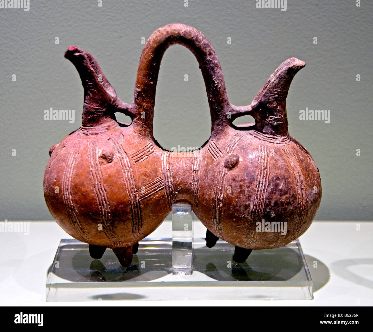 Composite vessel Middle Cypriot III period 1725 1650 BC  Athens Greece Greek - Stock Image