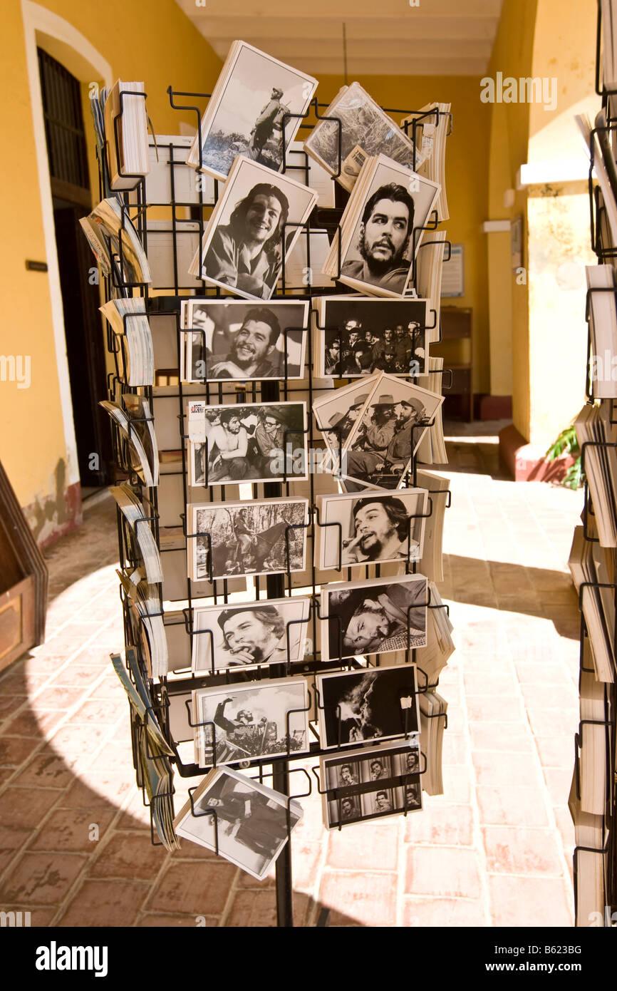 Postcards showing Cuban heros, Trinidad, Sancti-Spíritus Province, Cuba, Latin America, America Stock Photo