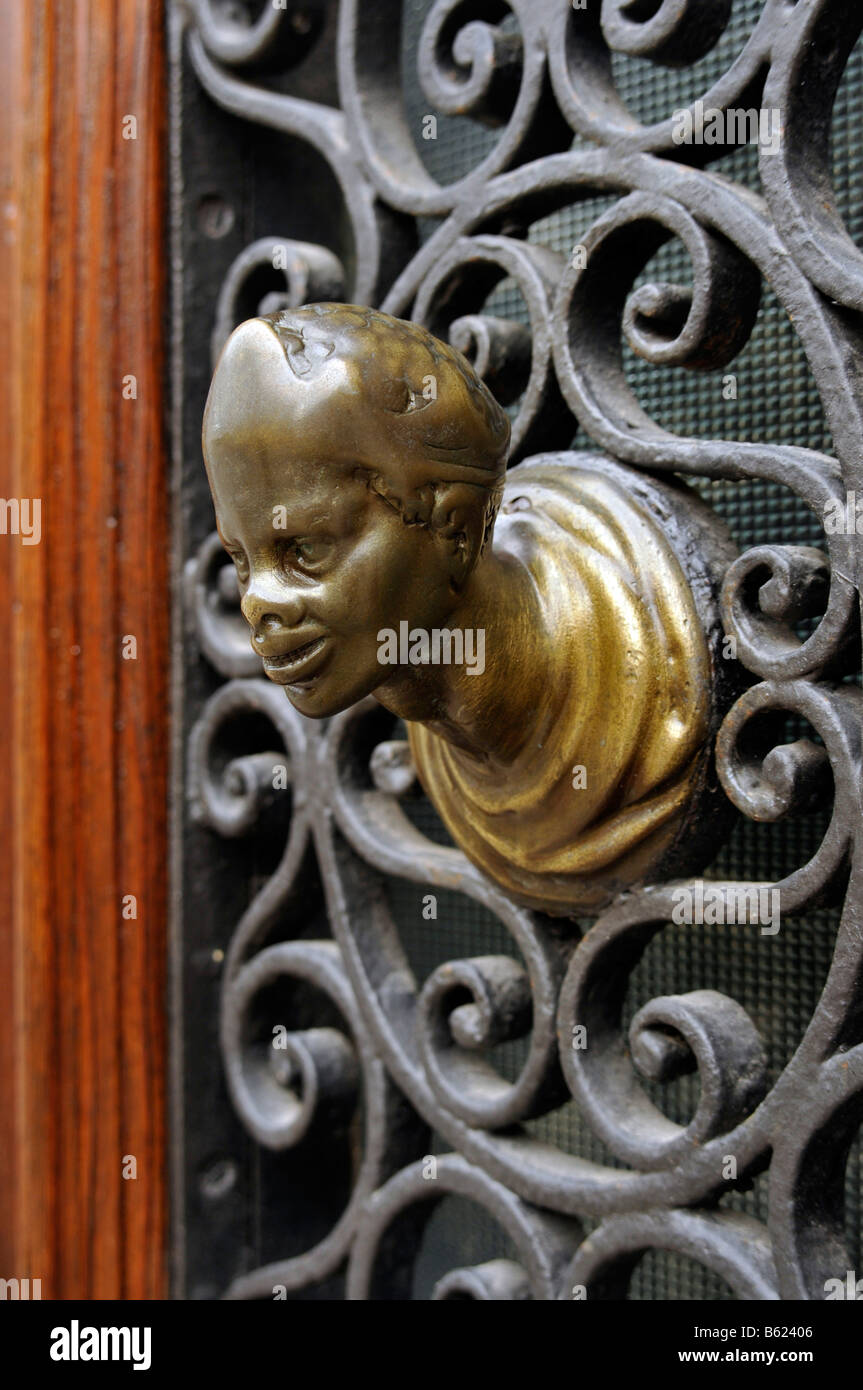 Antique door knob, Venice, Italy, Europe - Stock Image