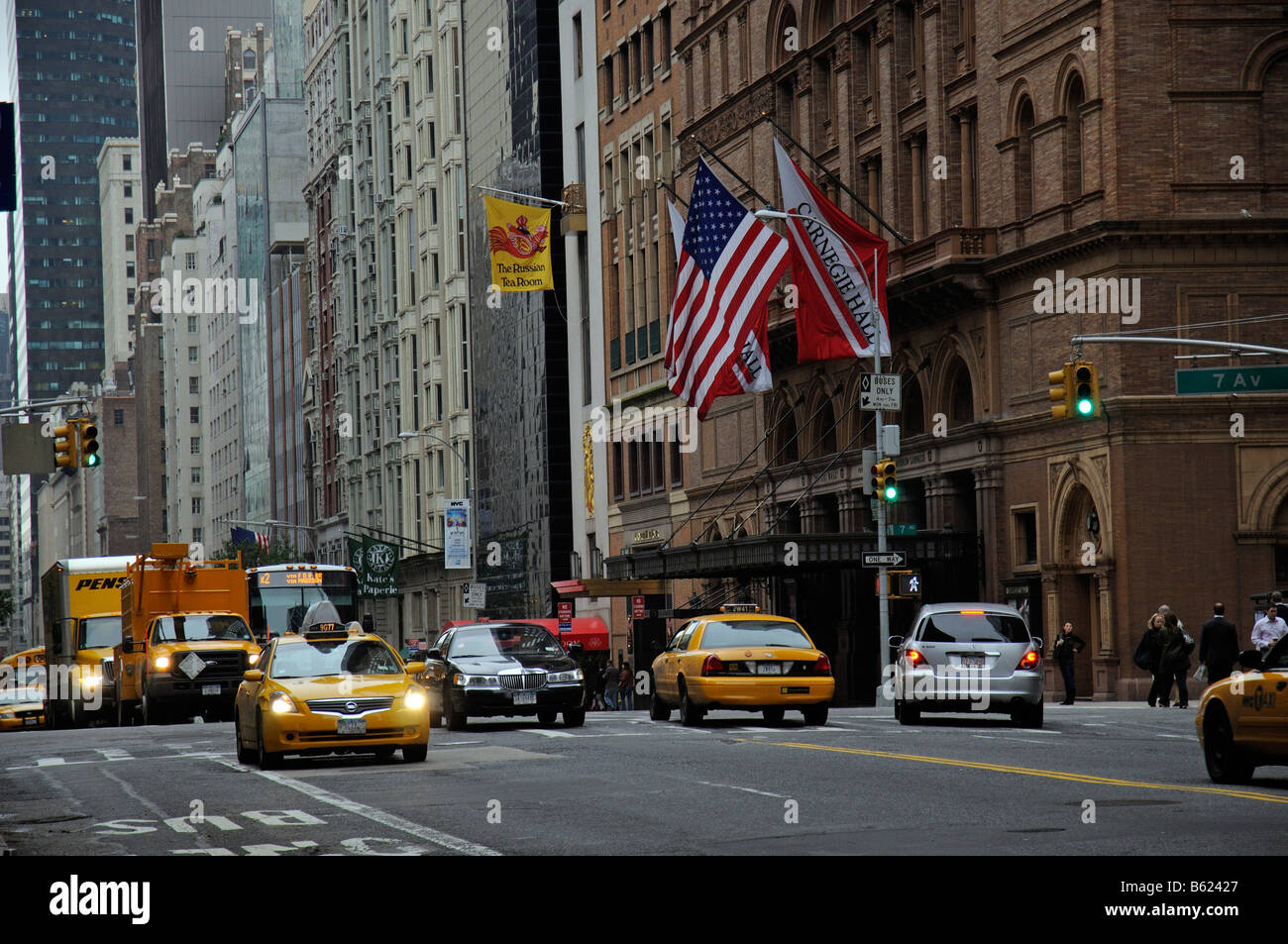 Carnegie Hall midtown Manhattan New York City America USA a US National Landmark building - Stock Image