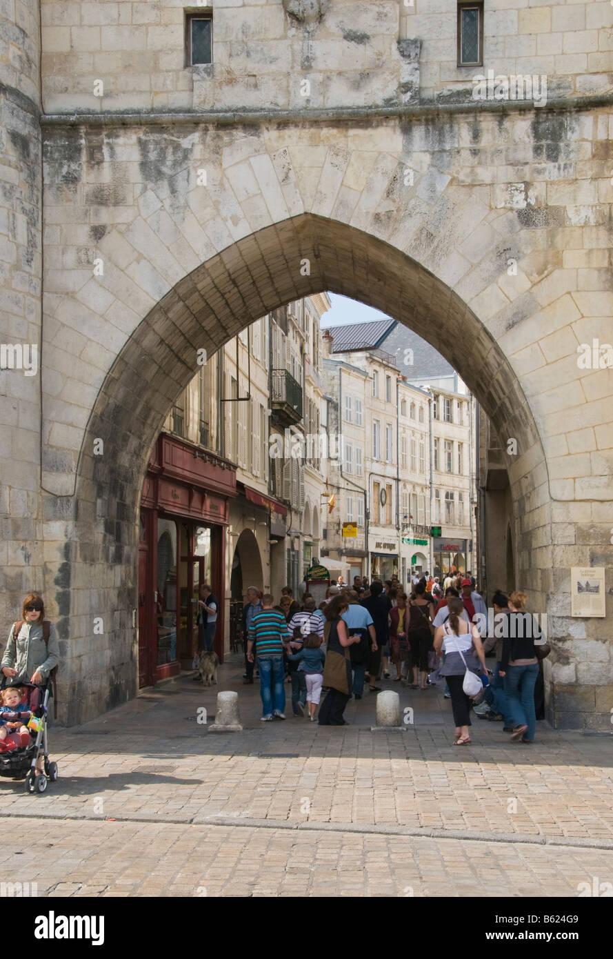 Porte de la Grosse Horloge La Rochelle Charente Maritime France - Stock Image