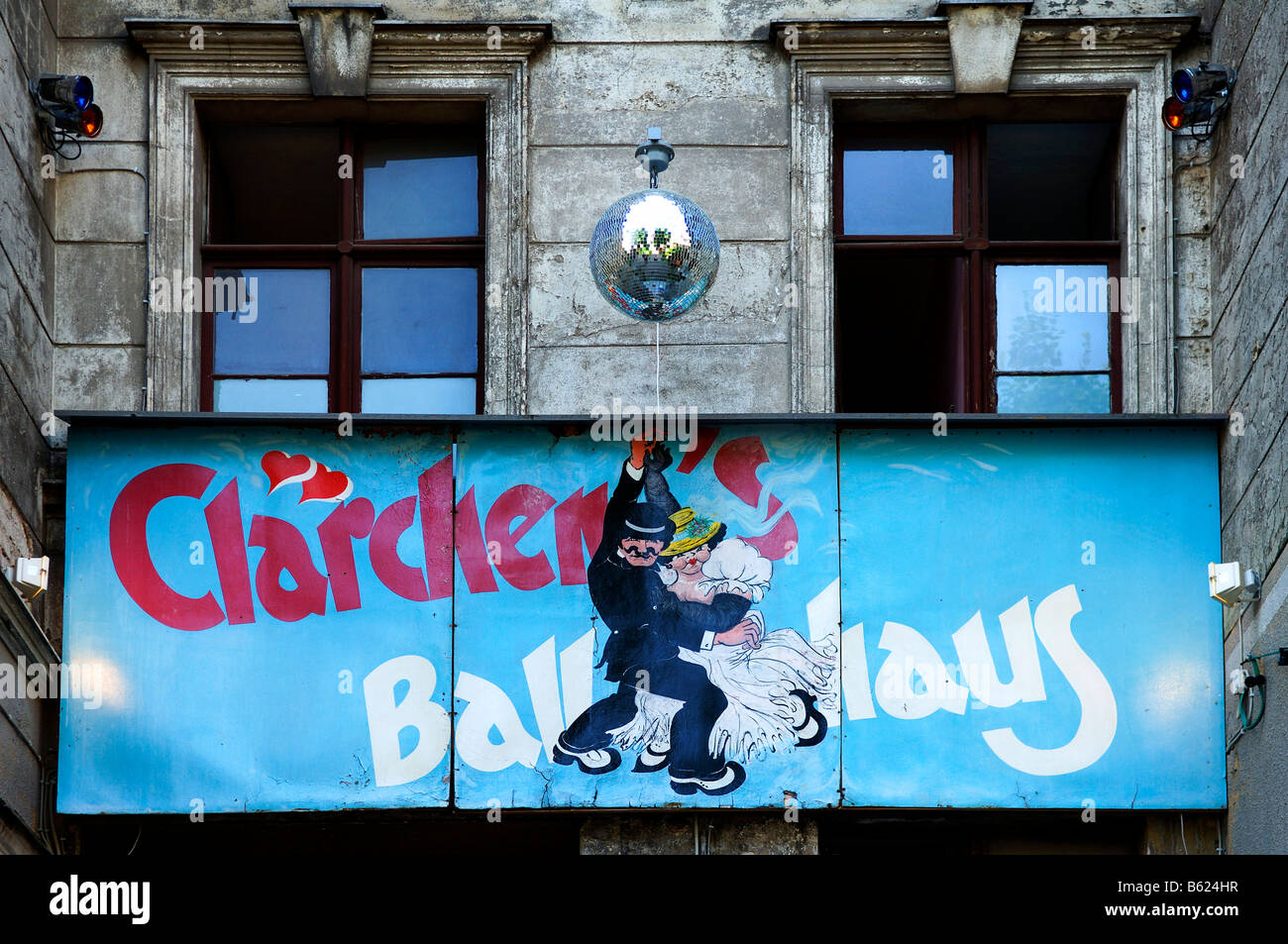 Sign for a Dancehall, Claerchen's Ballhaus, Berlin, Germany, Europe - Stock Image