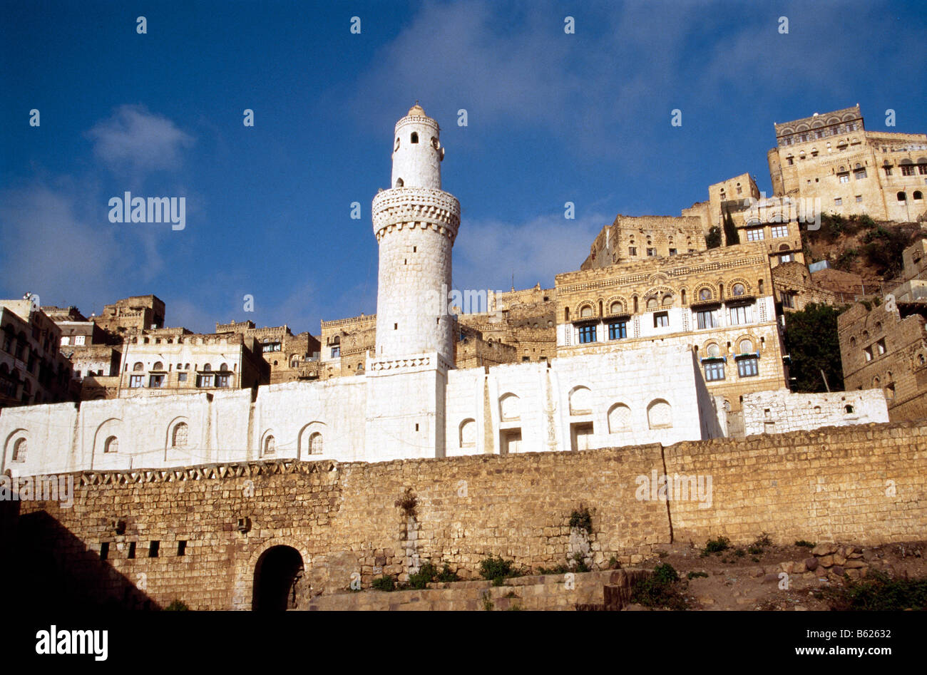Mosque, Al Mahwit, Jauf, Yemen, Middle East - Stock Image