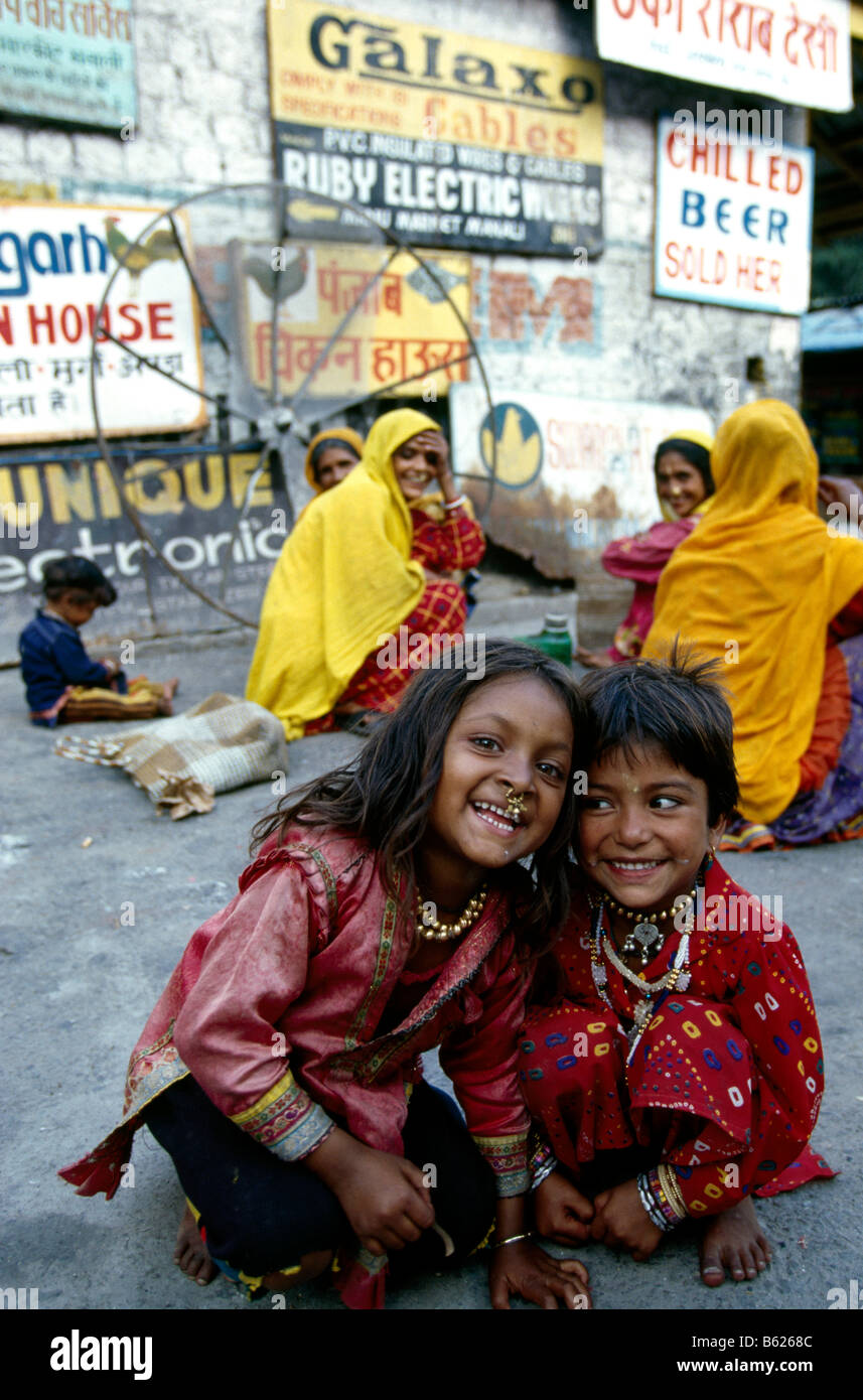 Children, Manali, Himachal Pradesh, India, Asia - Stock Image