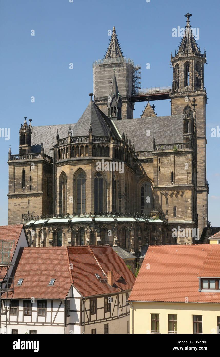 Saint Mauritius Saint Katharina Cathedral, Magdeburg, Saxony-Anhalt, Germany, Europe - Stock Image