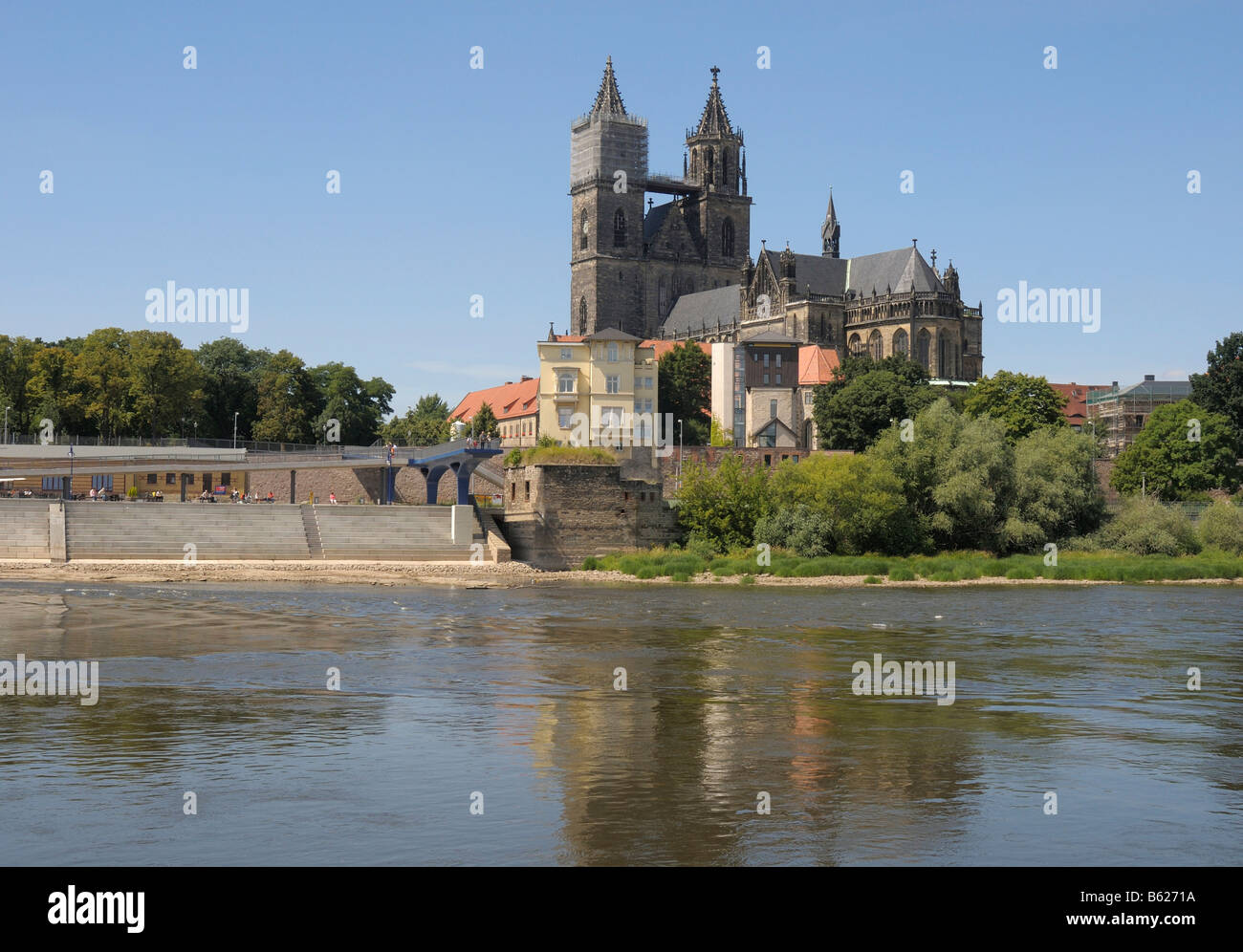 Saint Mauritius Saint Katharina Cathedral, Magdeburg, Saxony-Anhalt, Germany, Europe Stock Photo