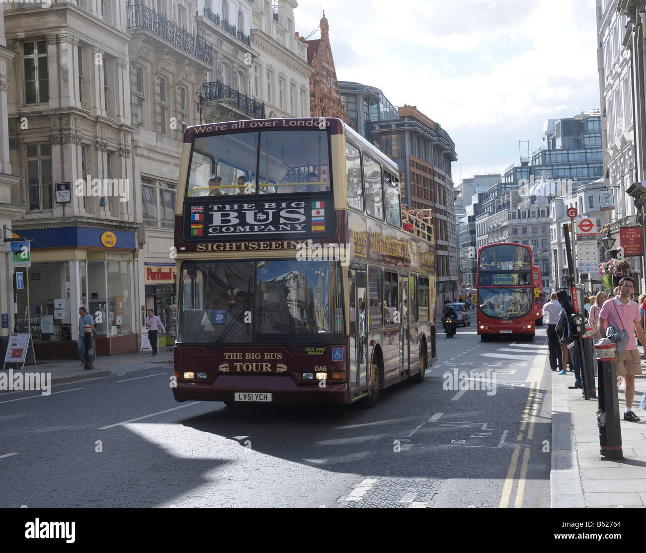 Doubledecker bus, Ludgate Hill, London, Great Britain, Europe - Stock Image