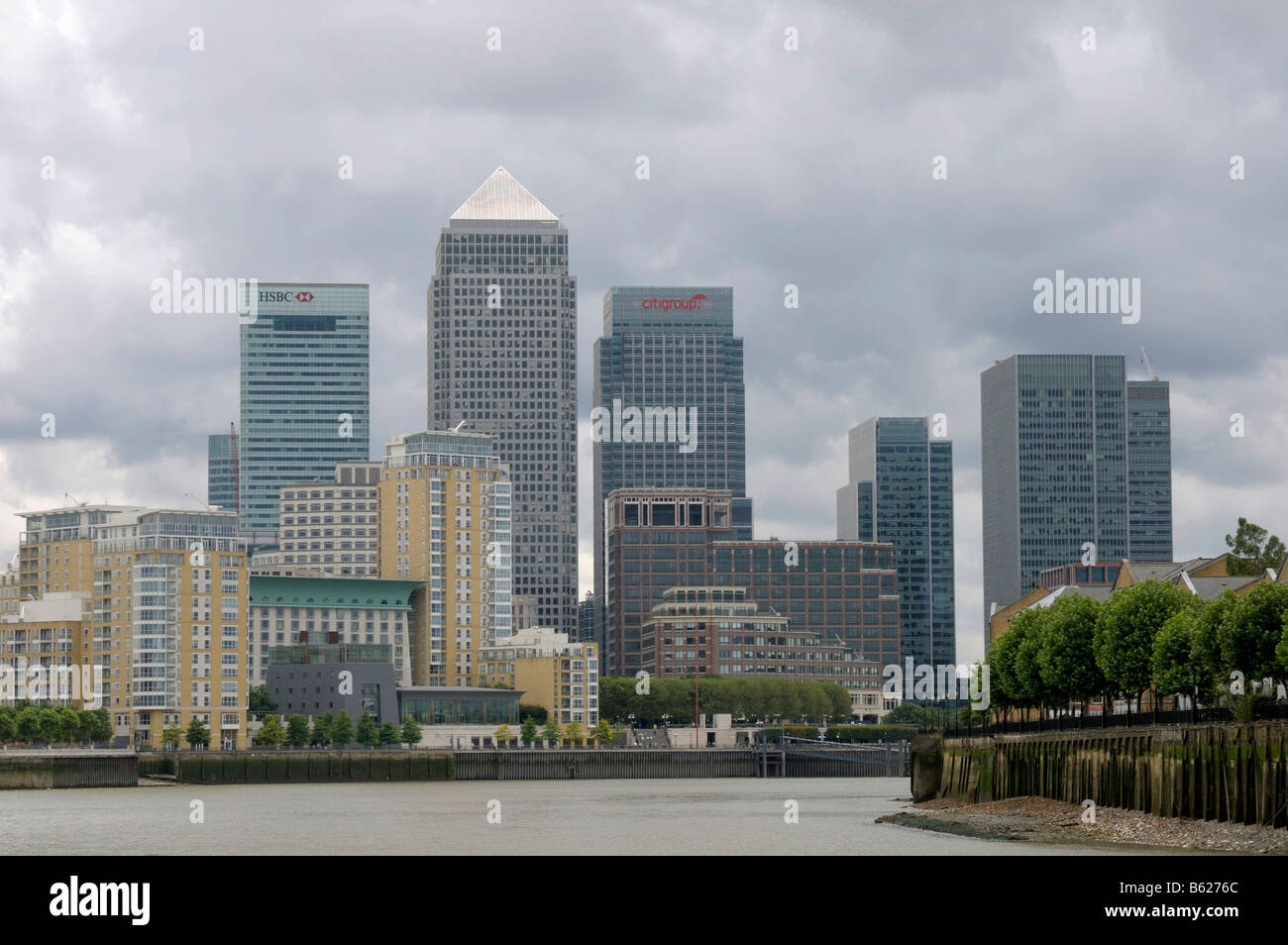 Docklands, skyscrapers, London, Great Britain, Europe - Stock Image
