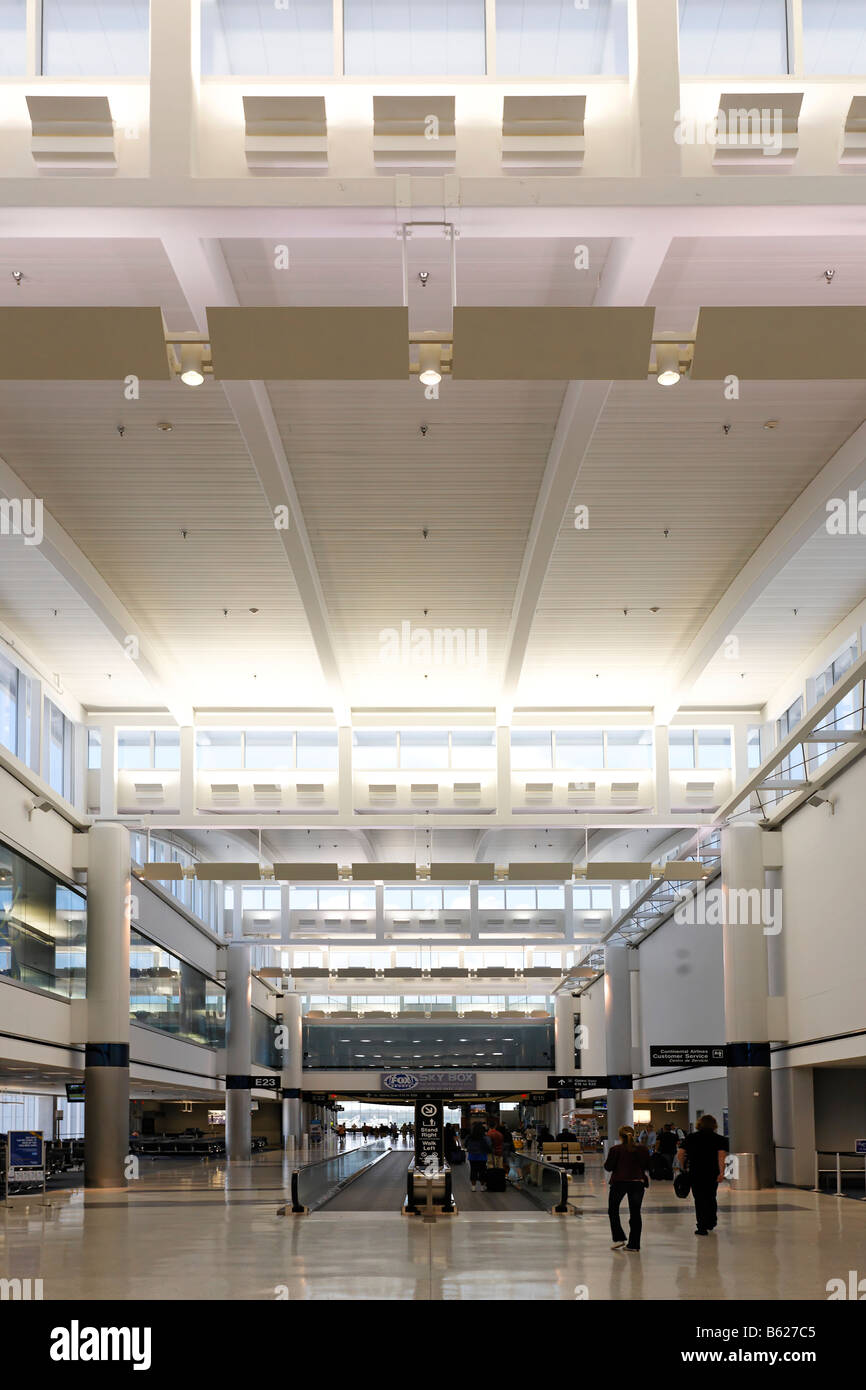 Departure hall, Gate E23, Geroge W. Bush International Airport, Houston, Texas, USA - Stock Image