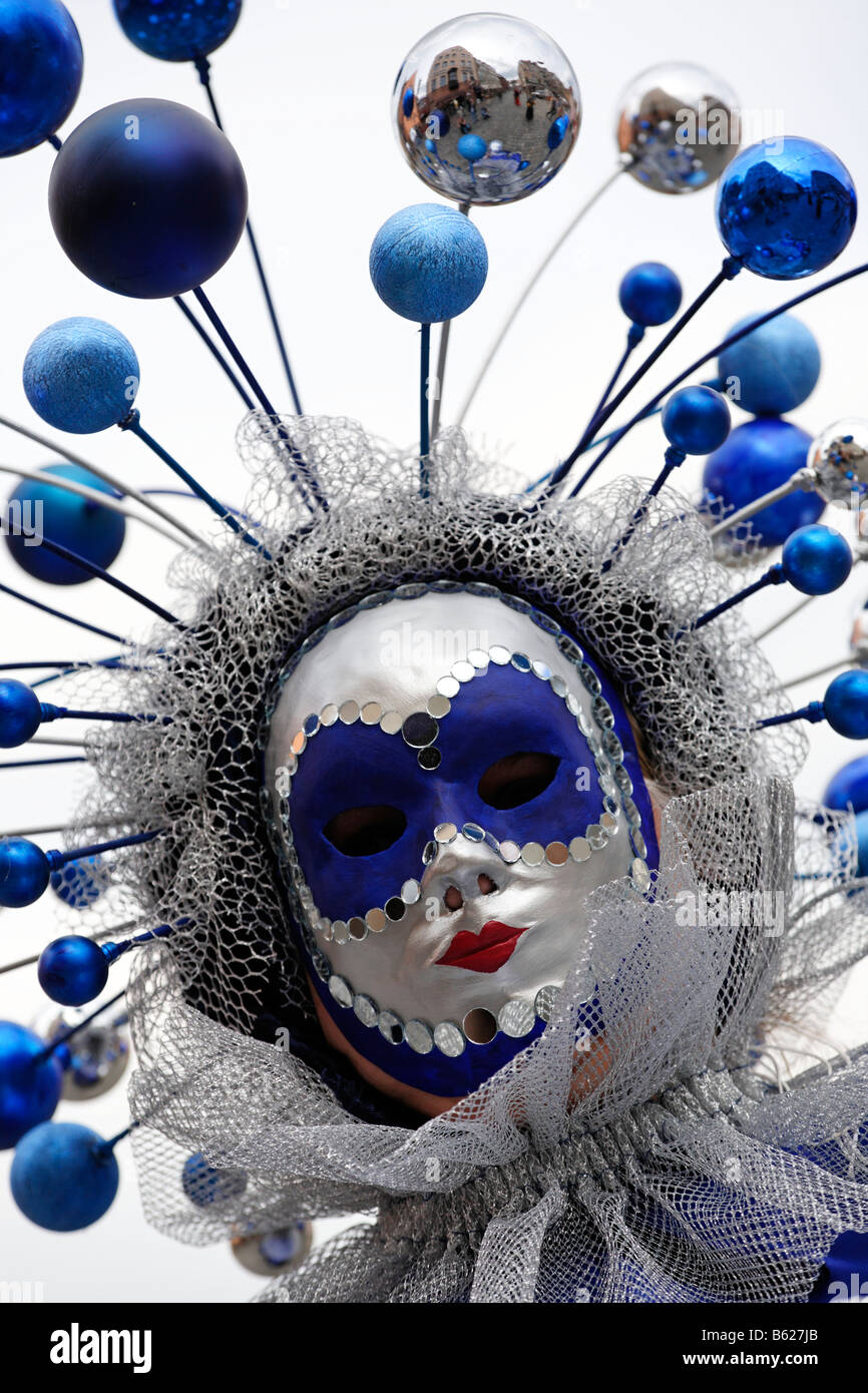 Mask, Venetian week, Nuremberg, Middle Franconia, Bavaria, Germany, Europe - Stock Image