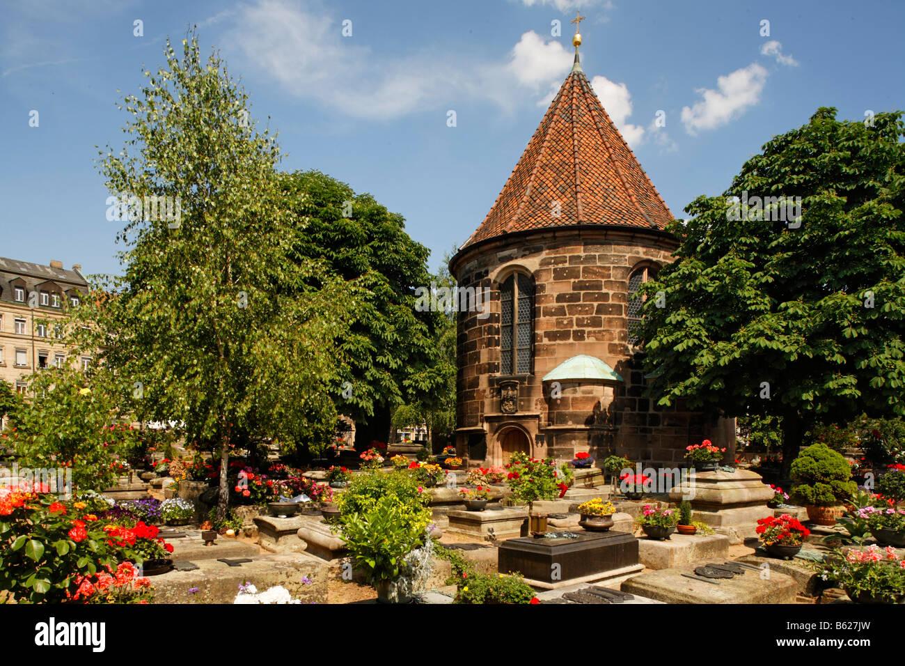Johannis graveyard, St. Johannis area, Nuremberg, Middle Franconia, Bavaria, Germany, Europe Stock Photo