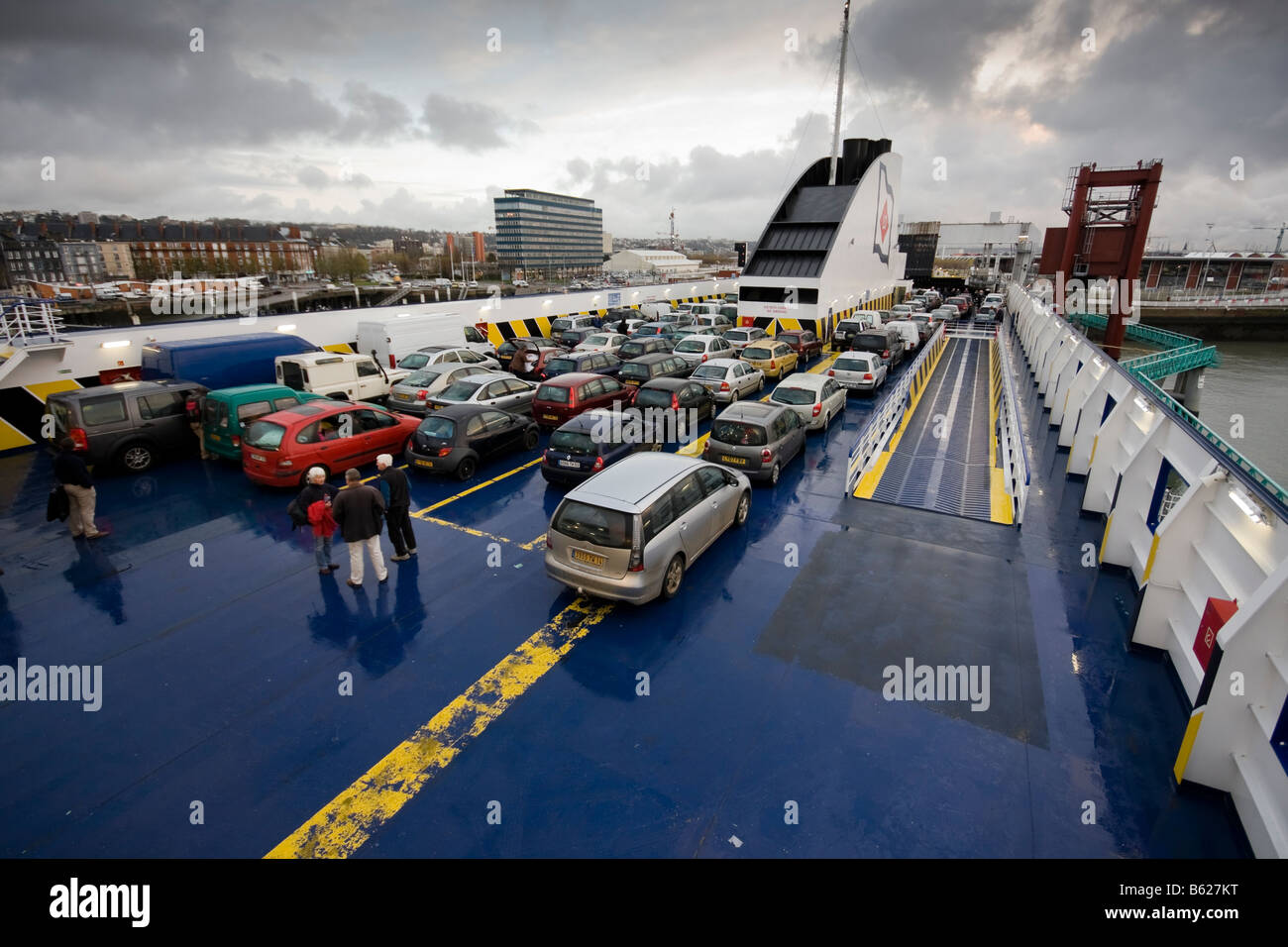 LD lines Cargo and passenger ferry - Normal Voyager, new to the fleet, Le Havre - Stock Image