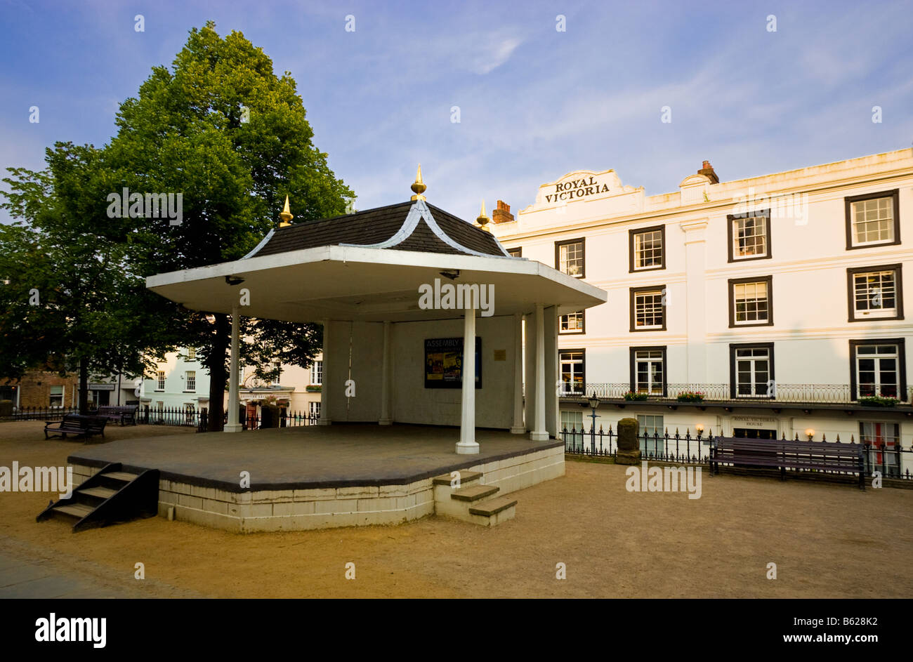 Bandstand on The Pantiles Upper Walks Royal Tunbridge Wells Kent England UK - Stock Image