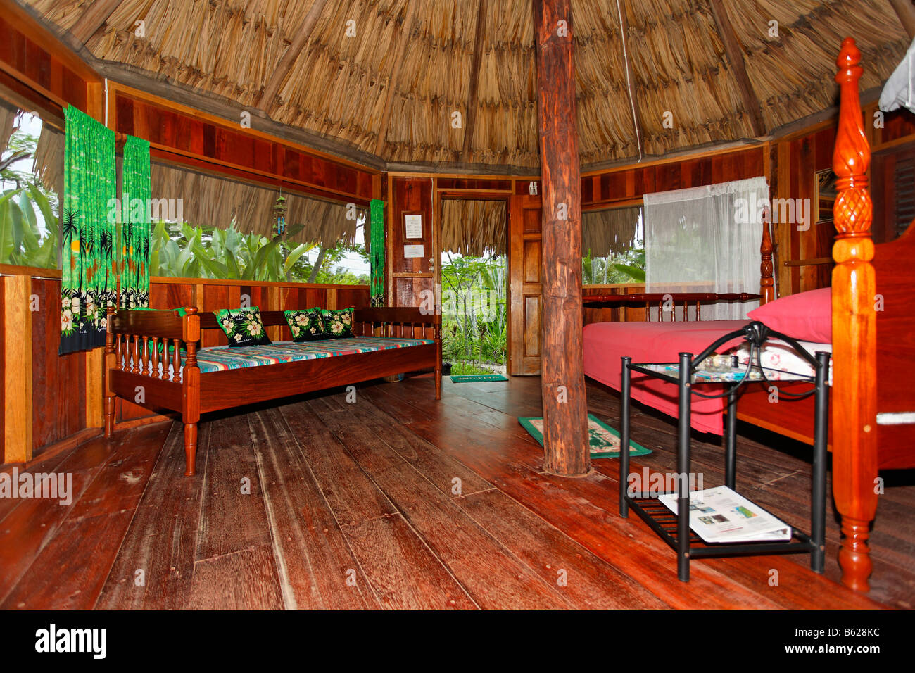 Sun Creek Resort, interior view, Punta Gorda, Belize, Central America - Stock Image