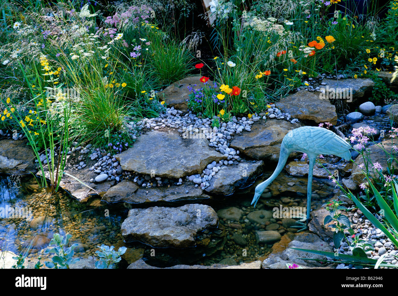 Rock and water garden - Stock Image