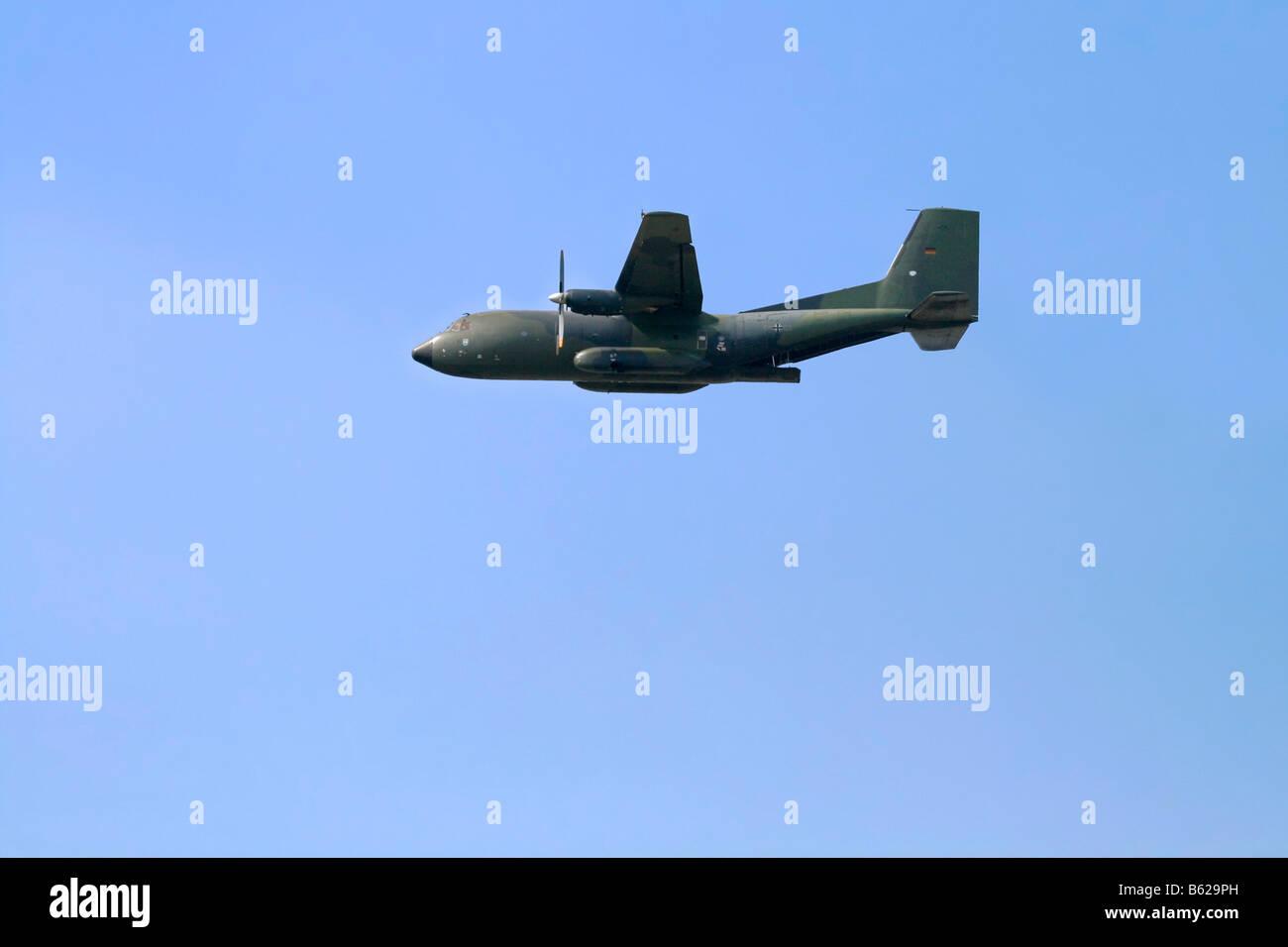 Transall C-160, German Airforce military transport plane airshow, ILA 2008, International Air Display, Berlin, Germany, - Stock Image