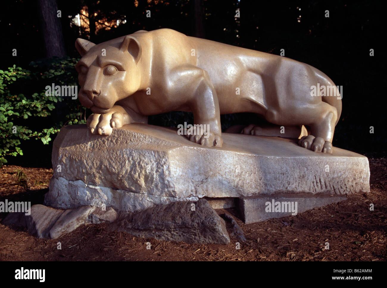 Amber Carving JAGUAR NITTANY LION AC42