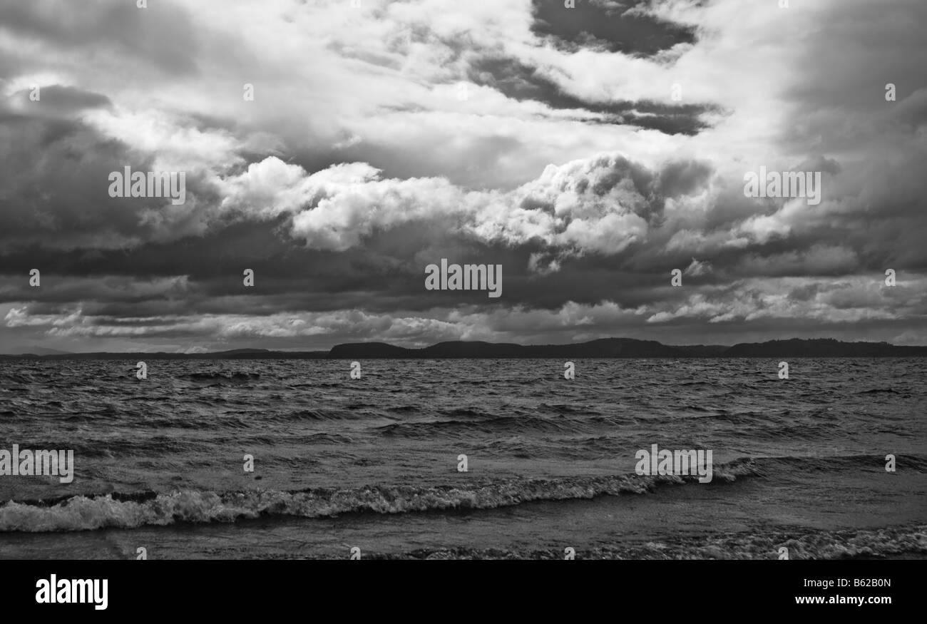 Lake Taupo, New Zealand's biggest lake - Stock Image