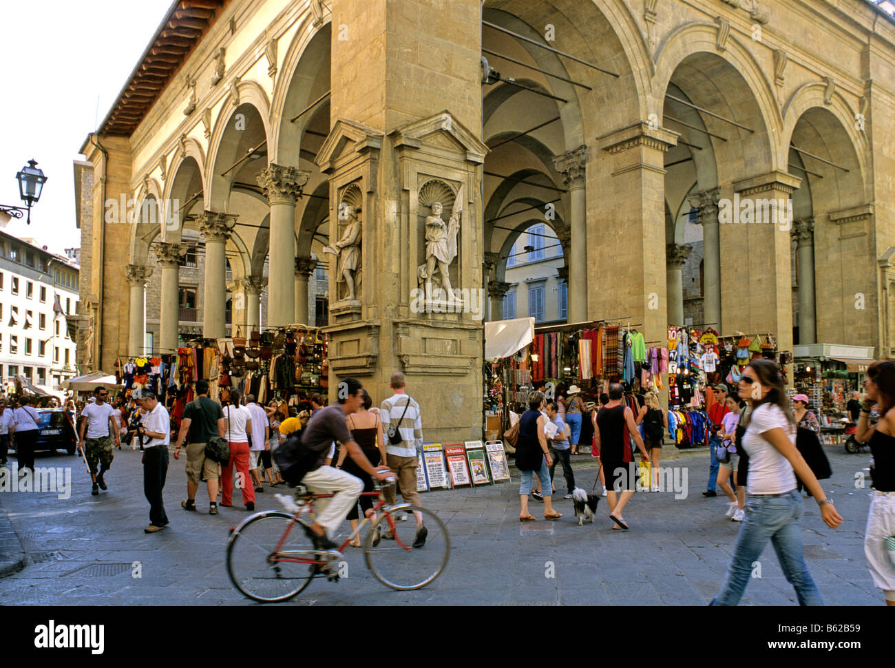 Mercato Nuovo, New Market, Florence, Firenze, Tuscany, Italy, Europe Stock Photo