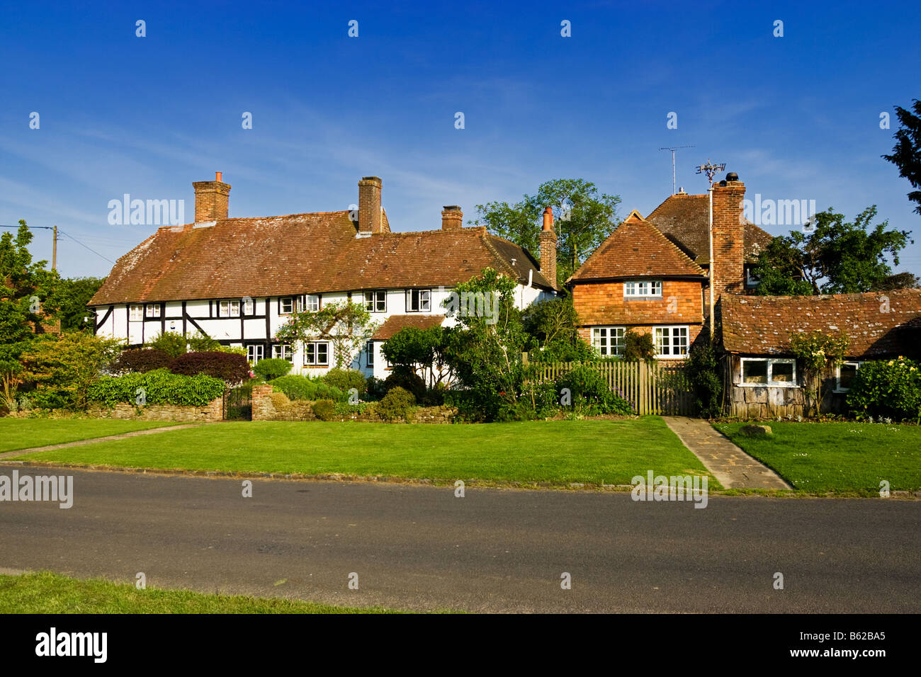 West Sussex - old houses in the village of Lurgashall, West Sussex, England, UK - Stock Image