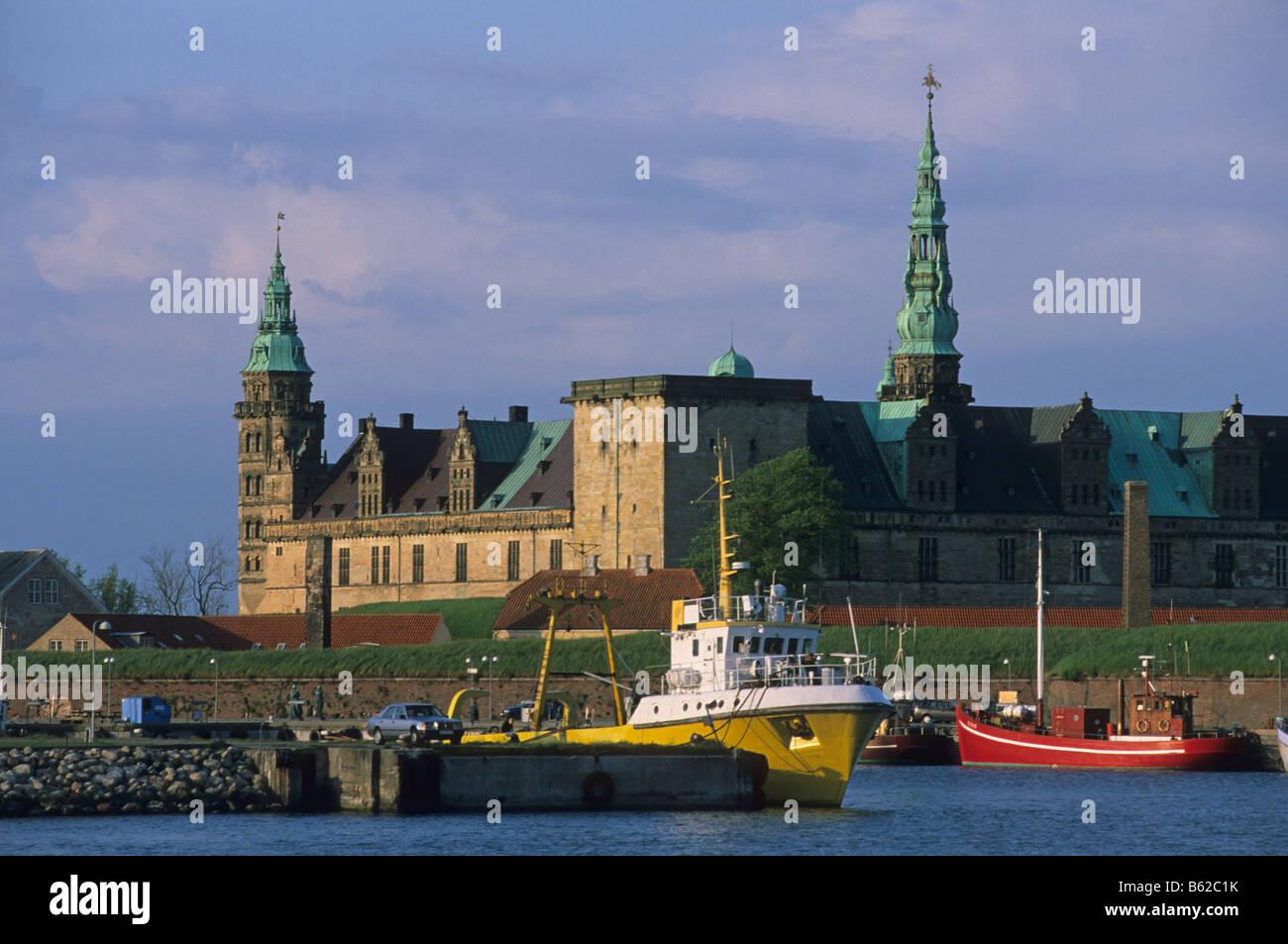 Elk167 1791 Denmark Helsingor Kronborg Slot setting of Hamlet 17th c - Stock Image