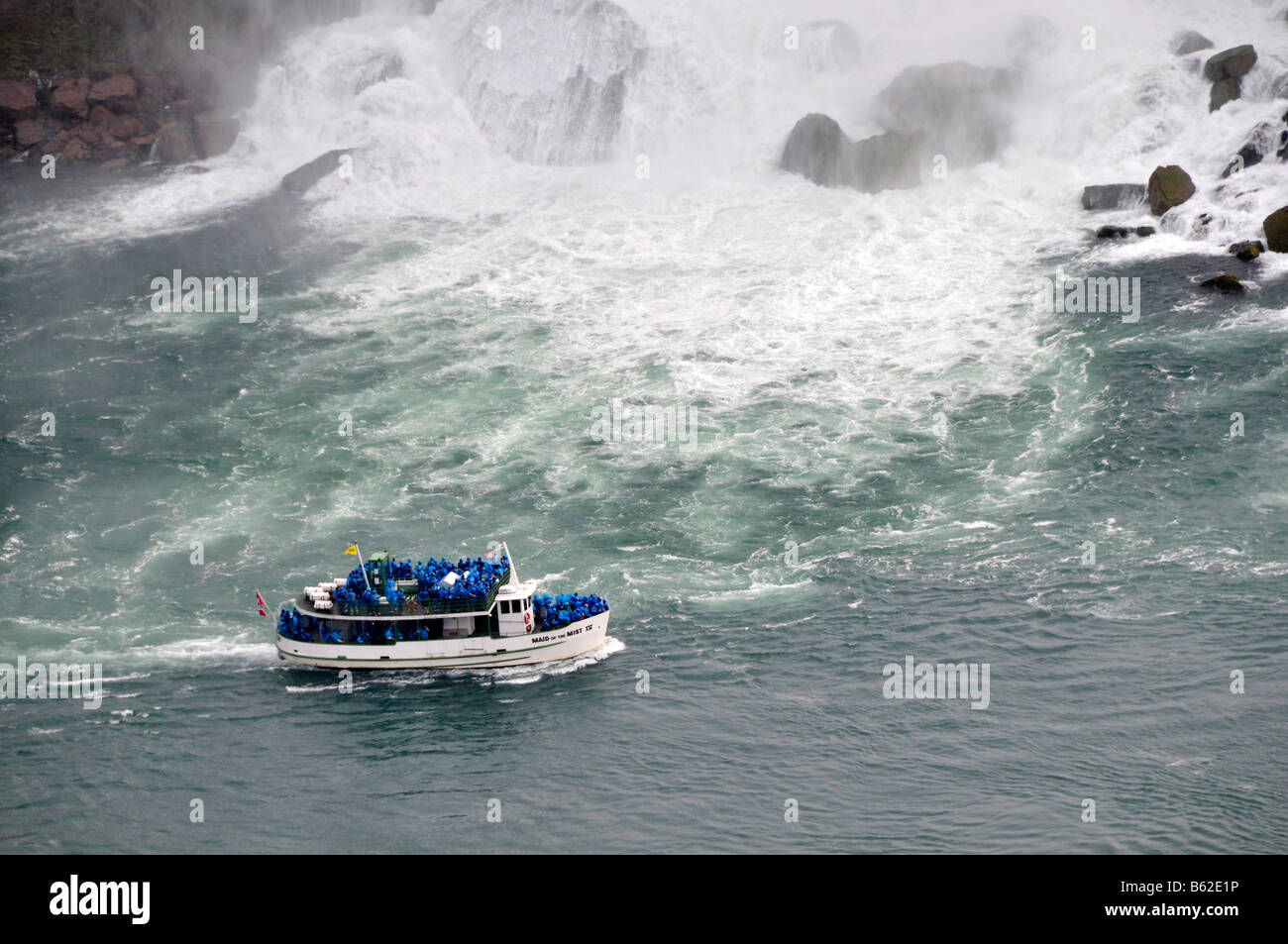 Maid of the Mist Boat at Niagara Falls Ontario Canada Tourist Attraction - Stock Image