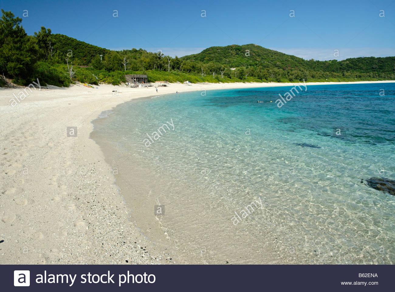 Furuzamami beach on Zamami island in the Kerama islands near Okinawa - Stock Image