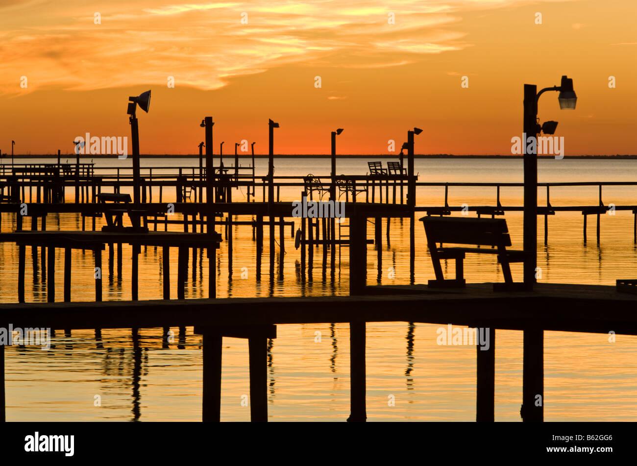 Sunset over Copano Bay. Texas - Stock Image