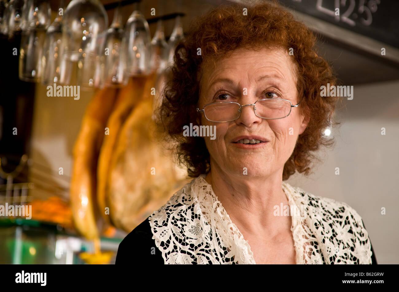 ELISABETH LUARD food writer and author of several classic cookbooks on european peasant food - Stock Image