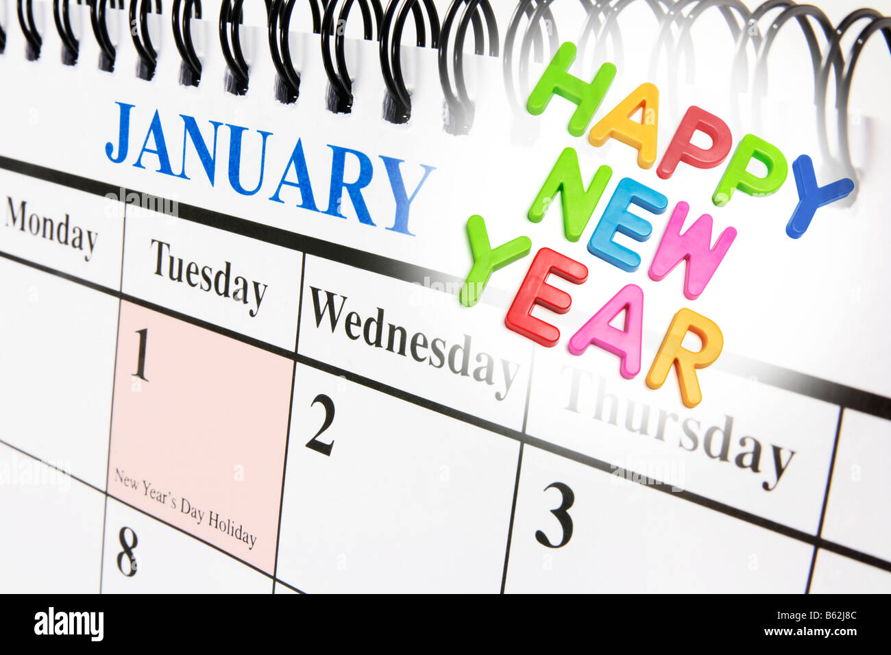 Calendar And New Year Greetings Stock Photo 20956556 Alamy