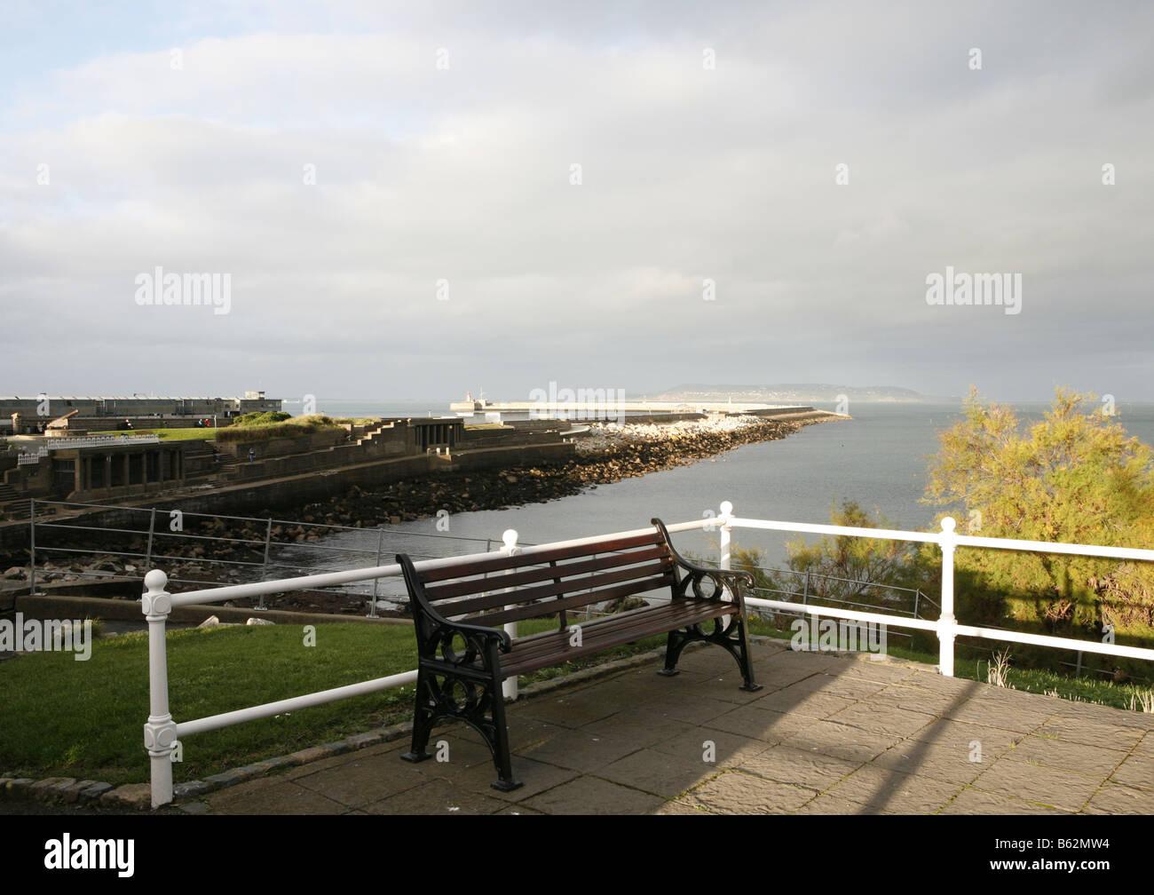 East Pier DunLaoghaire Pier Co Dublin CoDublin County Ireland Dun Laoghaire Eire - Stock Image