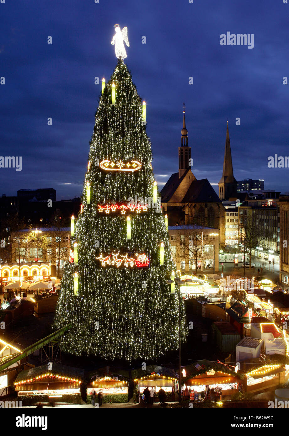 dortmundgermany the world largest christmas tree stock image - Biggest Christmas Tree In The World