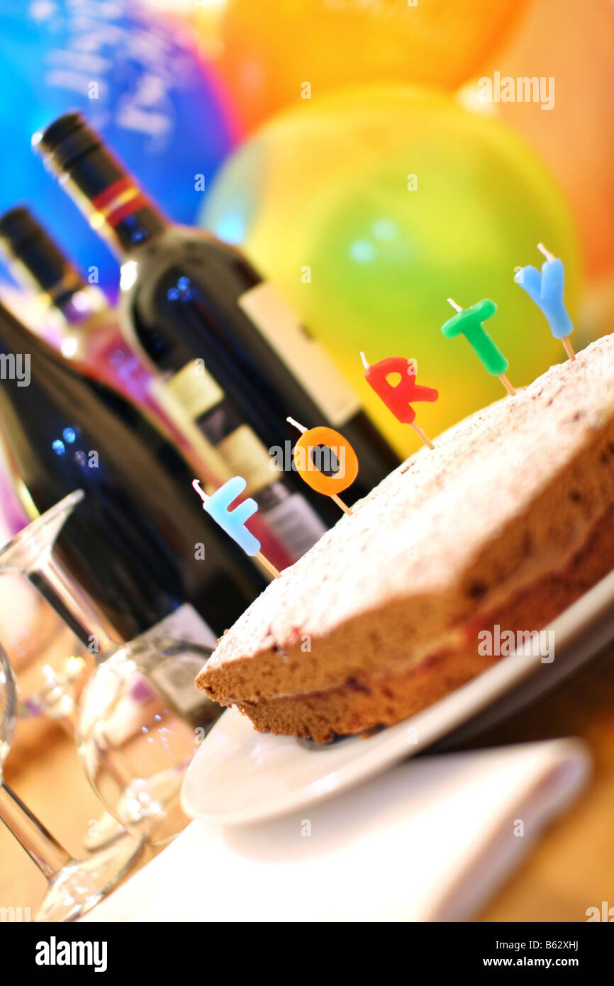 fortieth birthday party celebrations - Stock Image