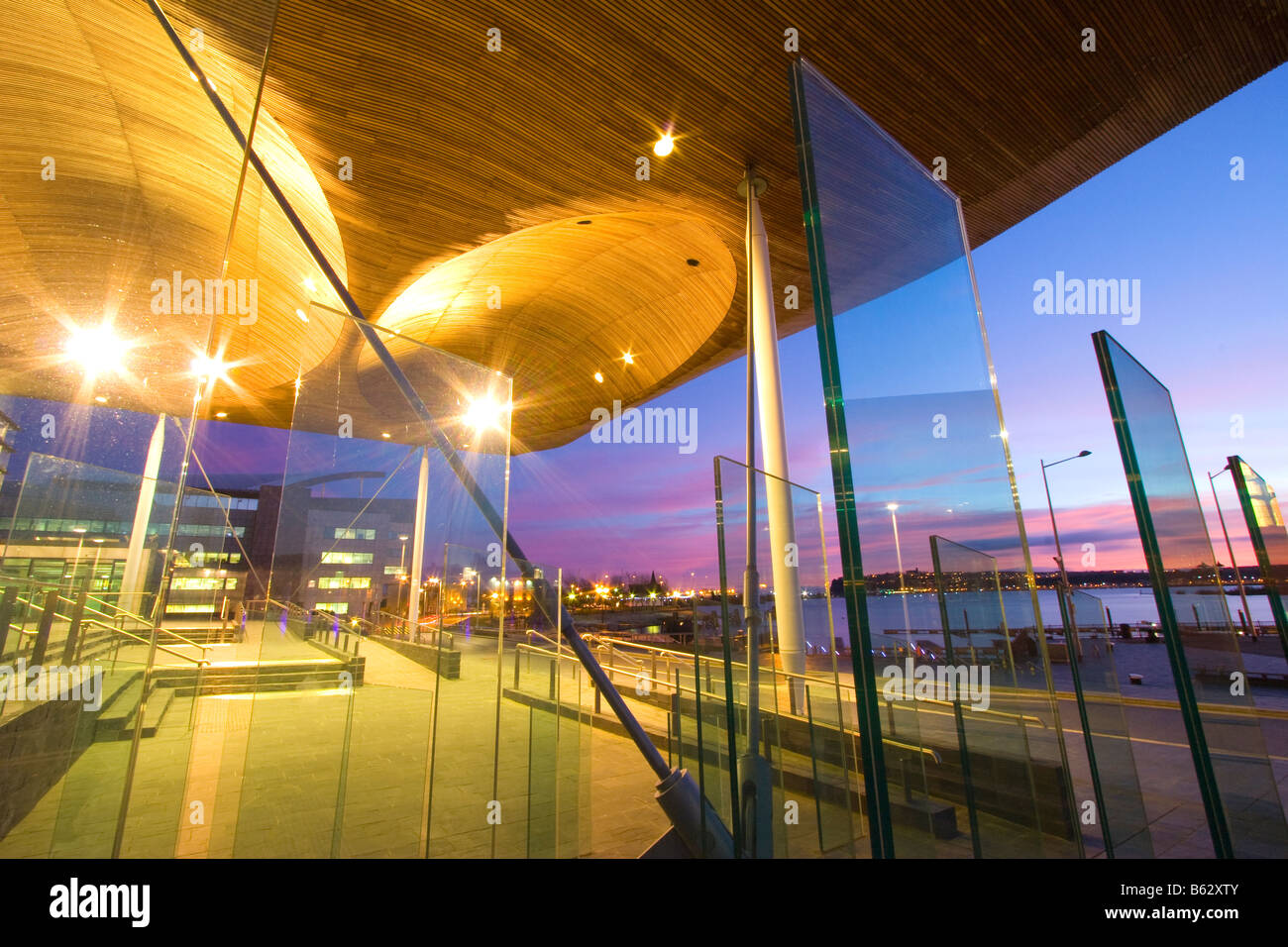 Welsh National Assembly Cardiff Bay South Glamorgan South Wales - Stock Image